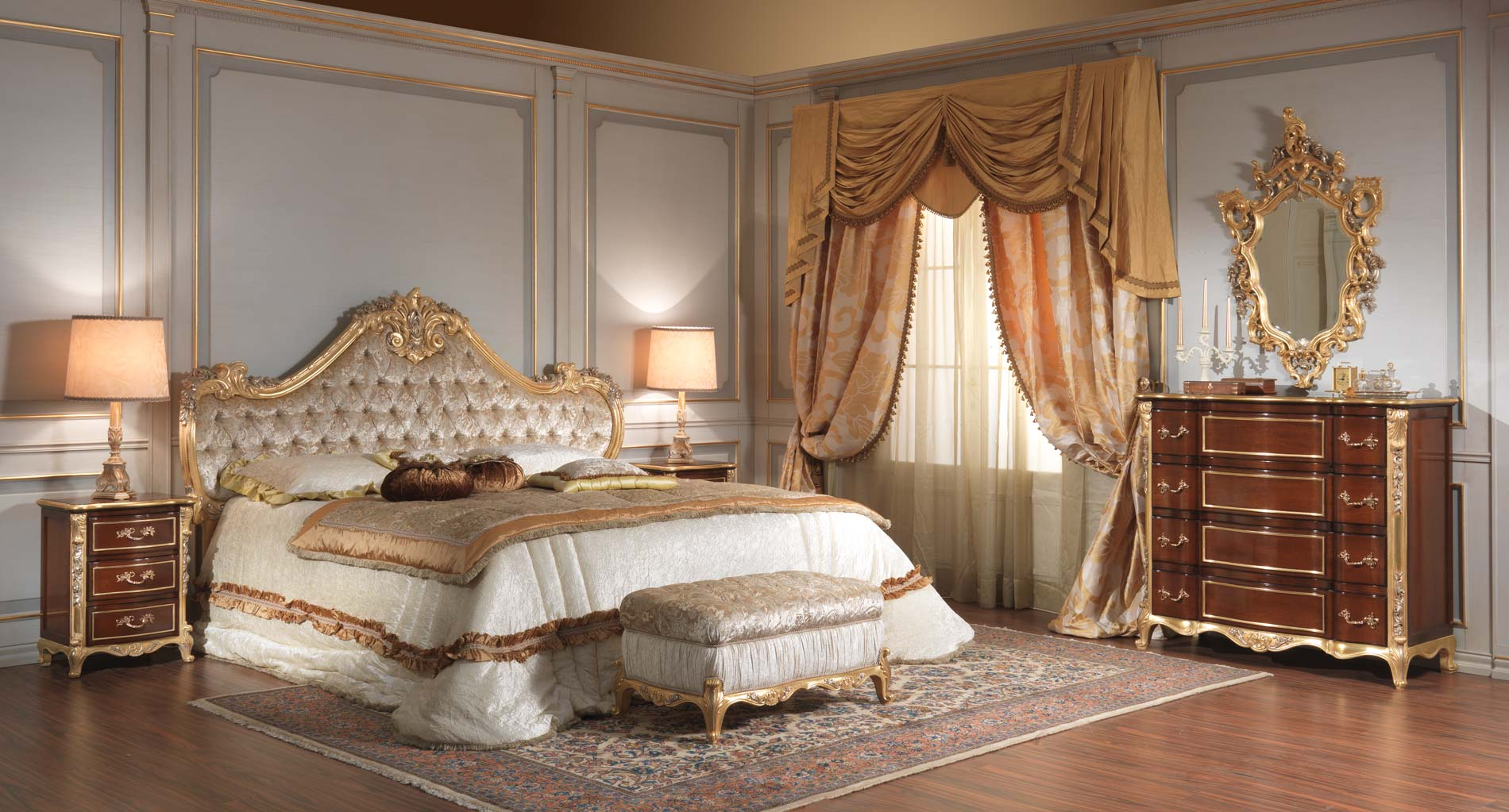 Camera da letto classica 700 italiano vimercati meda for Classic bedroom furniture designs