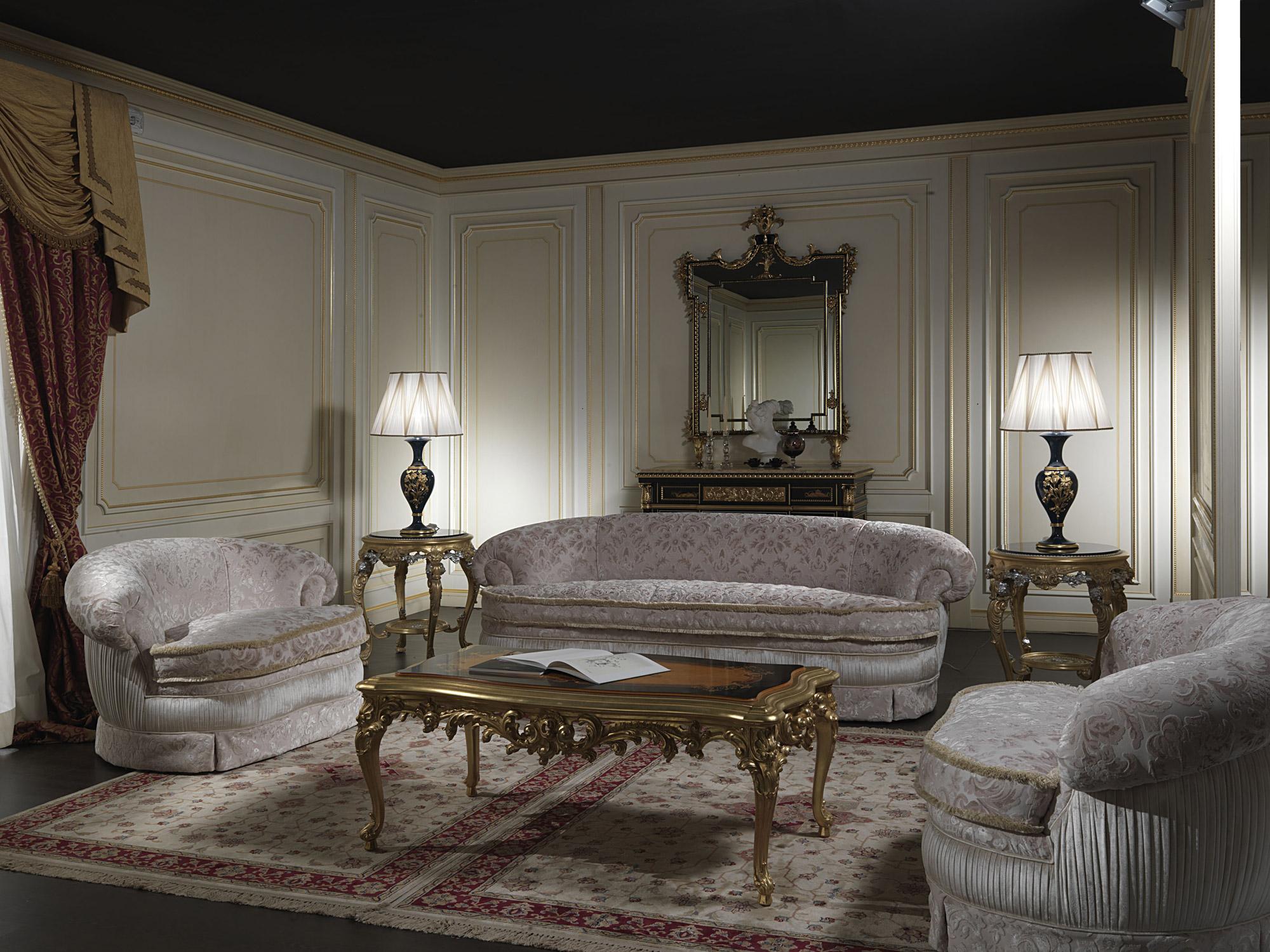 Divano e poltrona classica salotto londra vimercati meda for Divani classici in stile