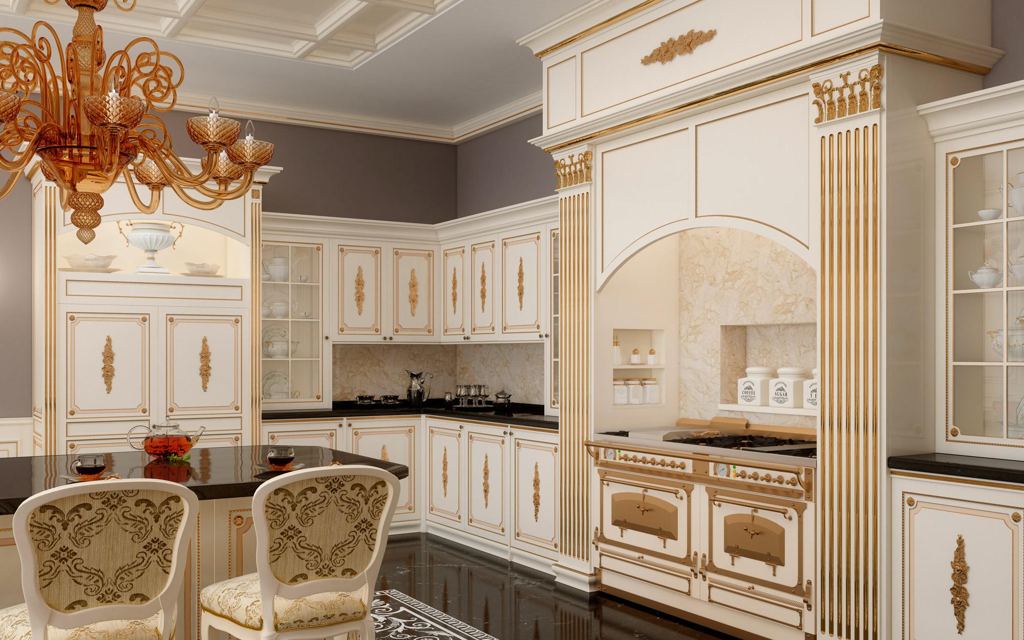 Cucina su misura artigianale olga vimercati meda - Cucine americane classiche ...