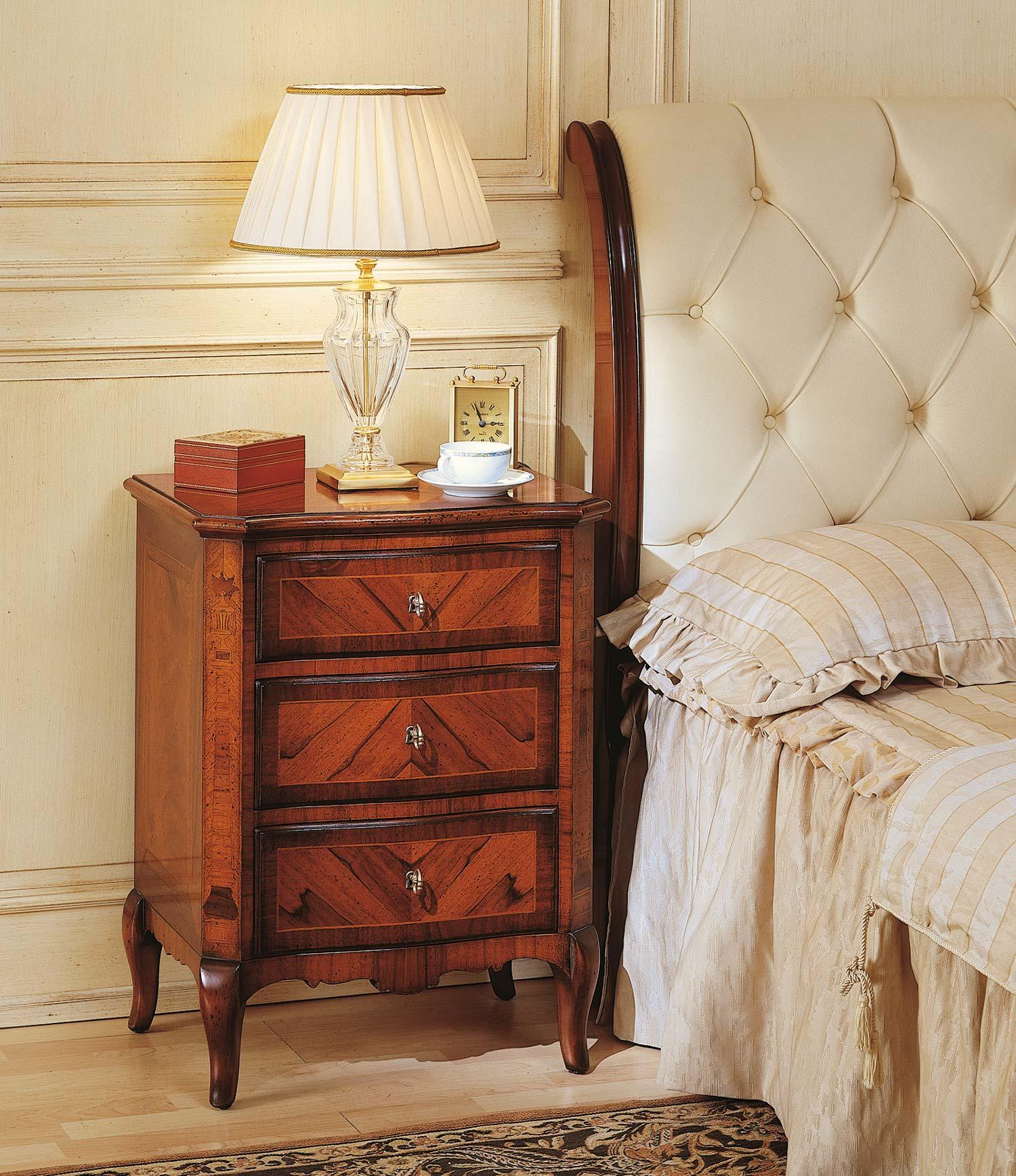 Camera da letto 800 francese comodino in noce vimercati - Camera da letto francese ...