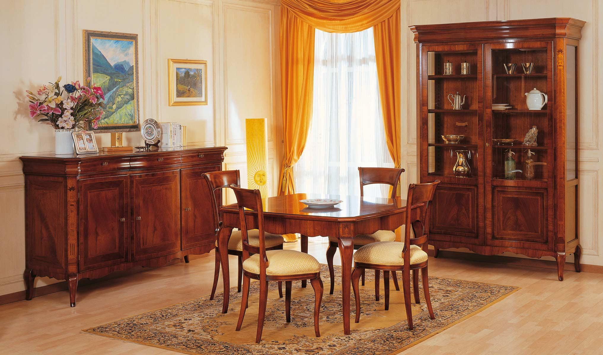 Sala Da Pranzo In Stile 800 Francese Vimercati Meda #BA8911 2034 1200 Sale Da Pranzo Classiche