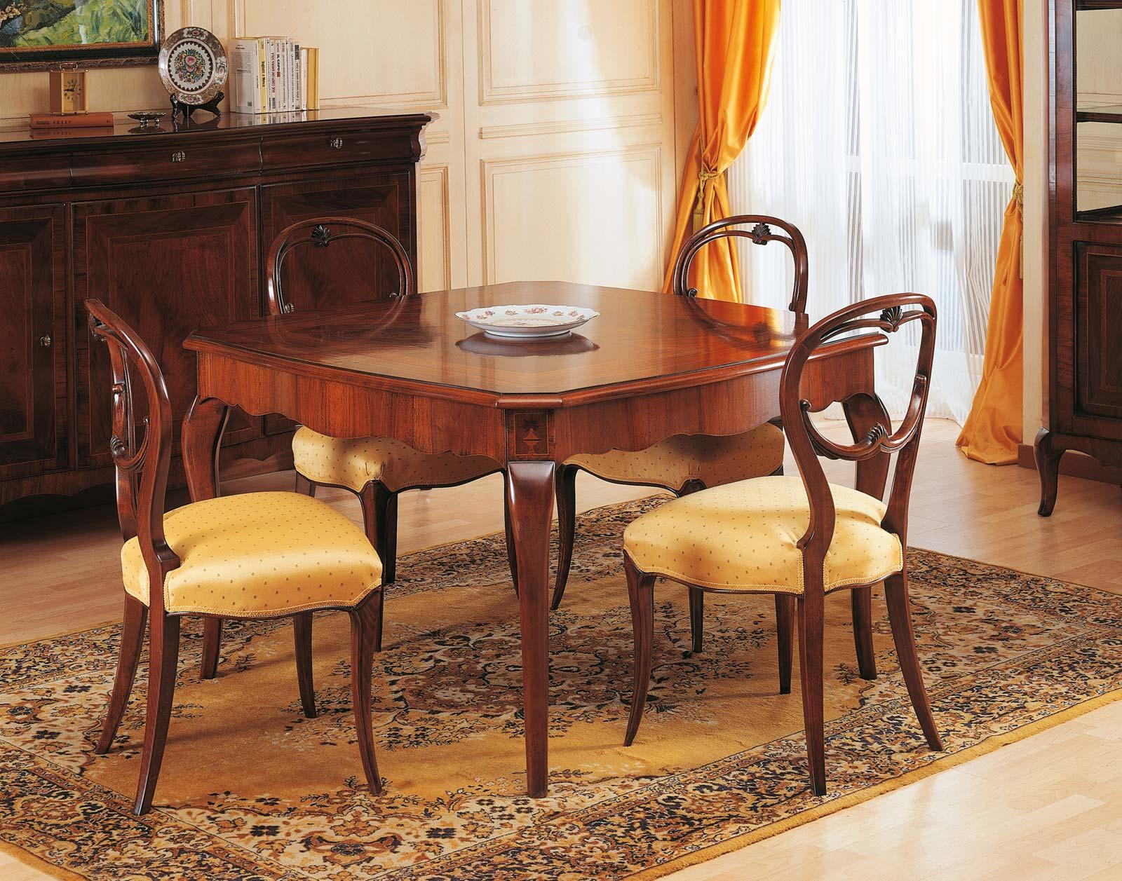 Tavolo In Noce 800 Francese Vimercati Meda #B87D13 1600 1257 Sala Da Pranzo In Legno
