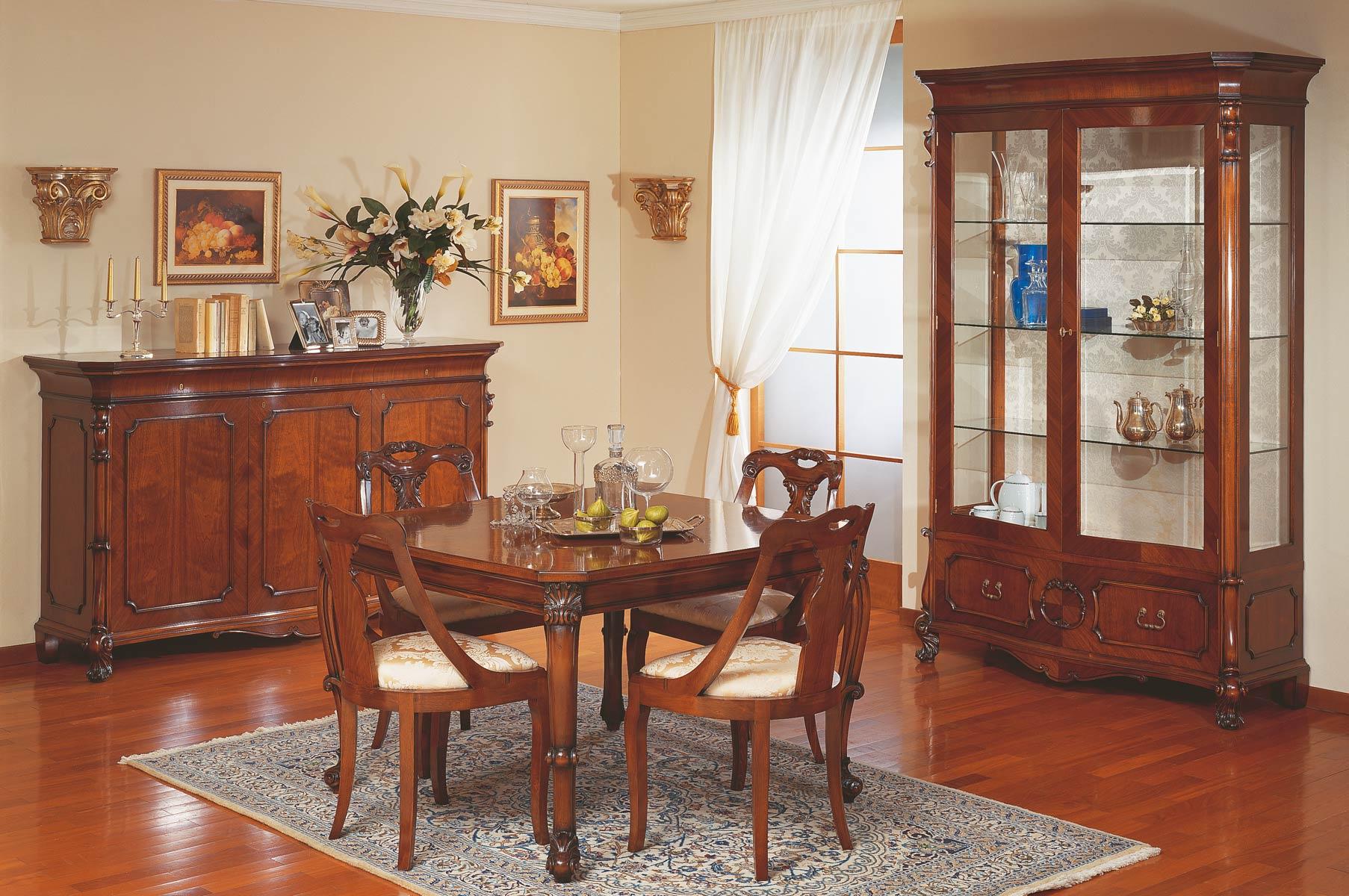 Sala da pranzo classica stile 700 siciliano vimercati meda for Mobili per sala da pranzo moderni