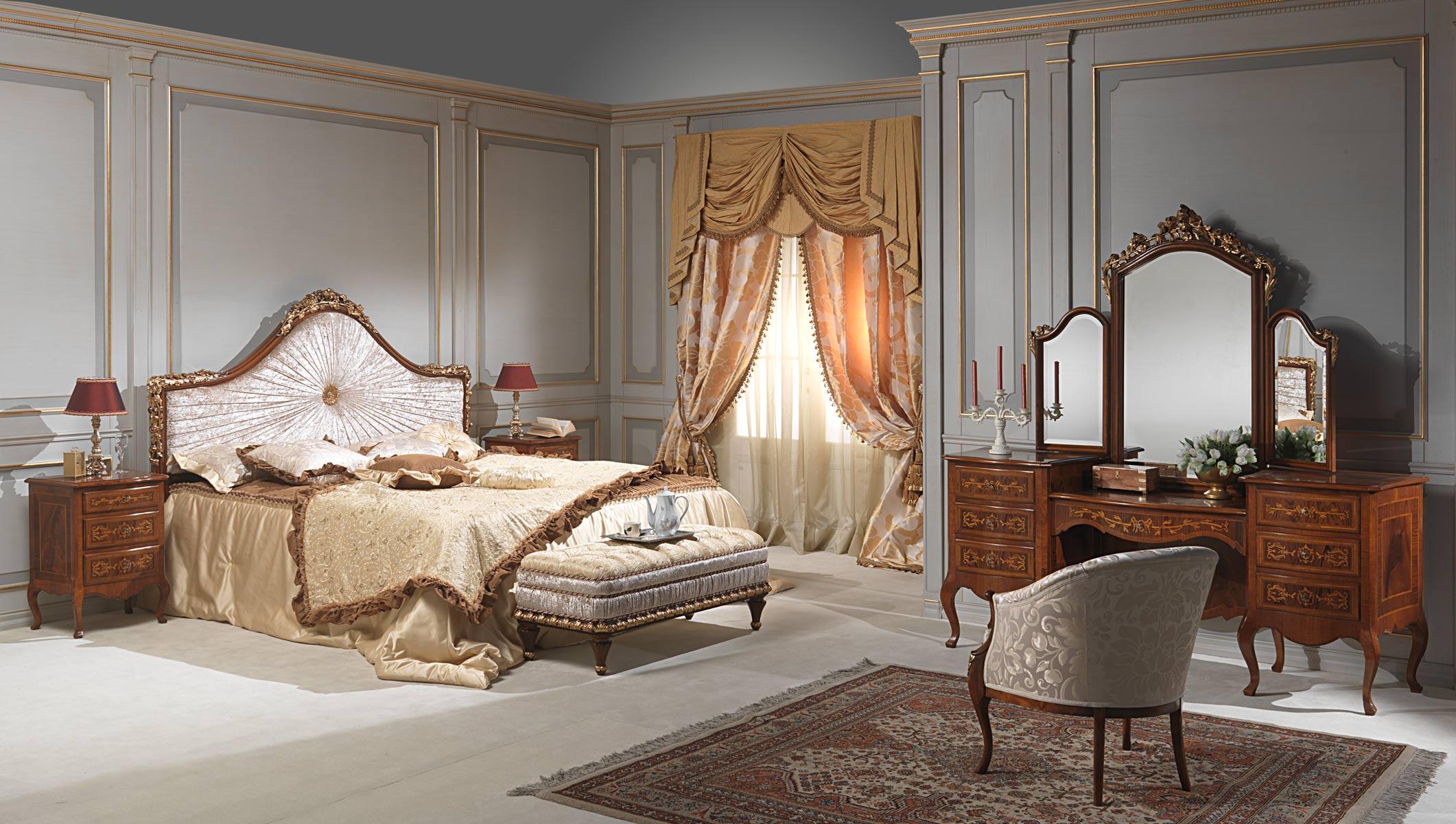 Camera da letto classica louvre vimercati meda - Poltroncine classiche per camera da letto ...