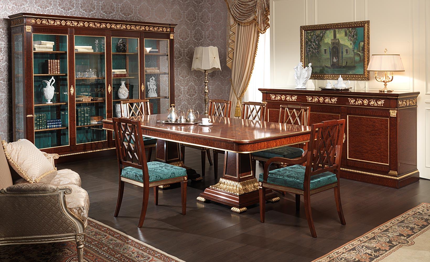 Sala da pranzo ermitage stile impero vimercati meda for Mobilya arredamenti