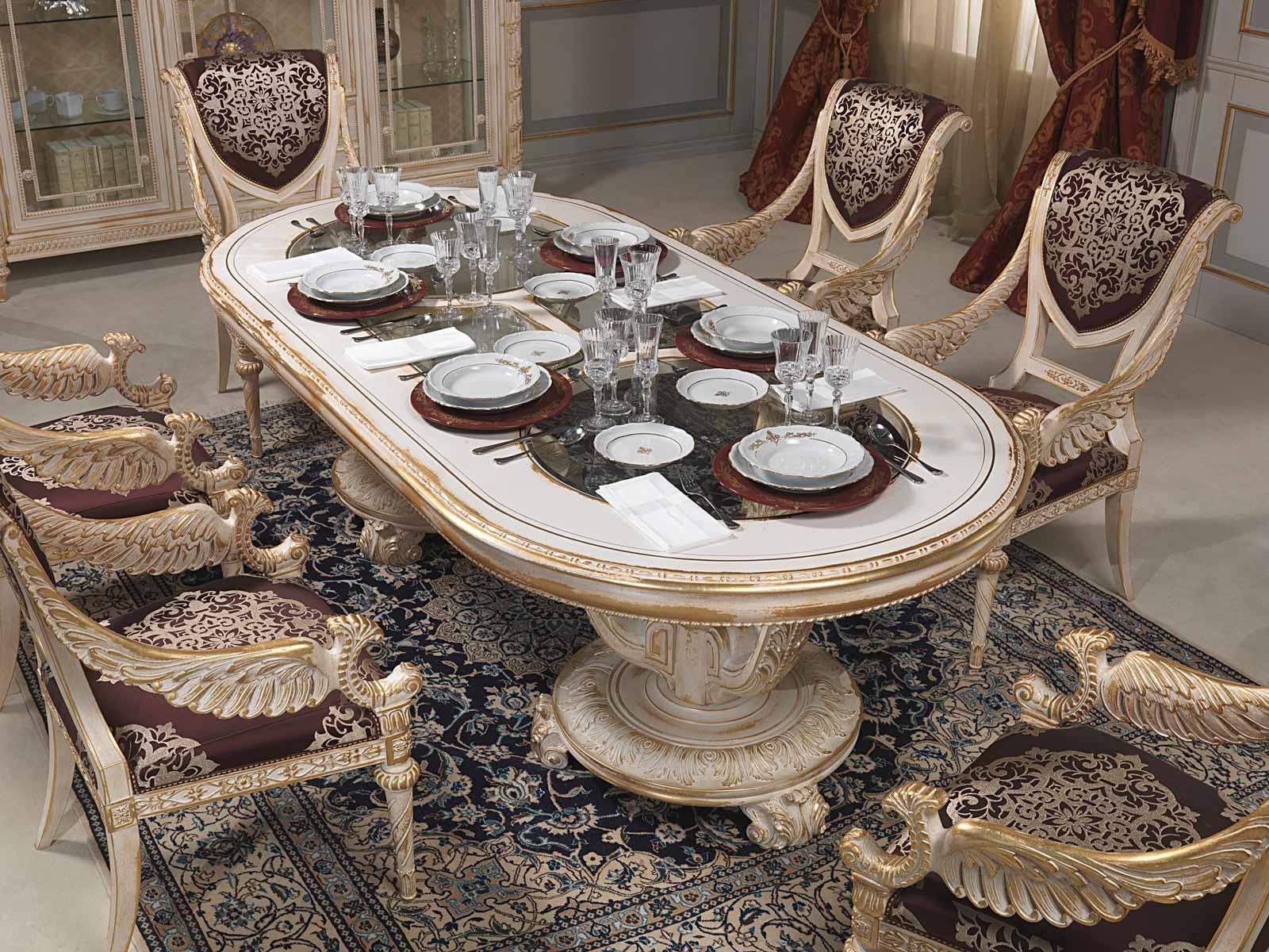 Tavolo Da Pranzo In Stile Luigi XVI Vimercati Meda #80684B 1600 1200 Sale Da Pranzo Classiche