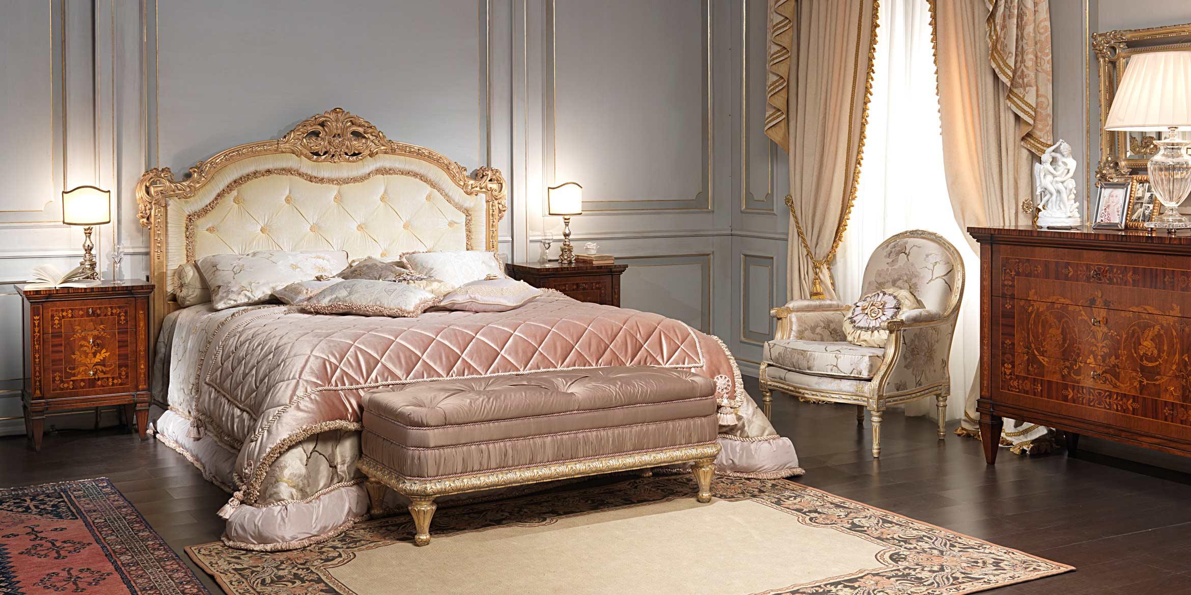 Camera da letto classica i maggiolini letto comodini e com - Camera da letto classica ...