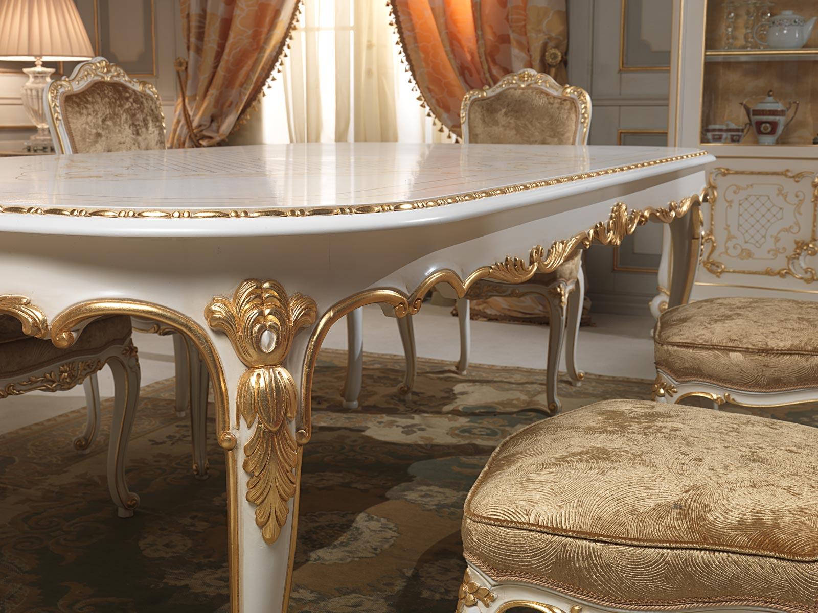 Tavolo da pranzo stile luigi xv particolare degli intagli for Vimercati meda