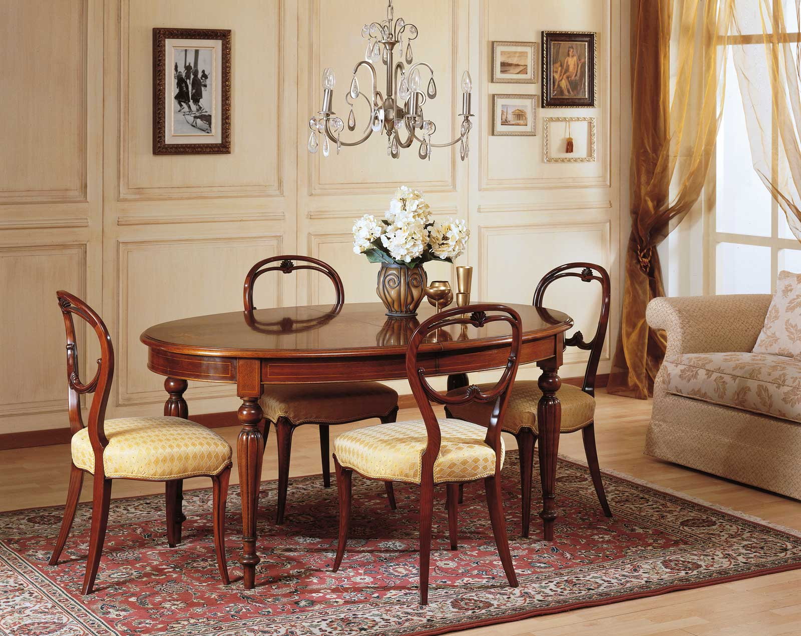 Tavolo da pranzo 800 francese vimercati meda for Sedie da sala pranzo
