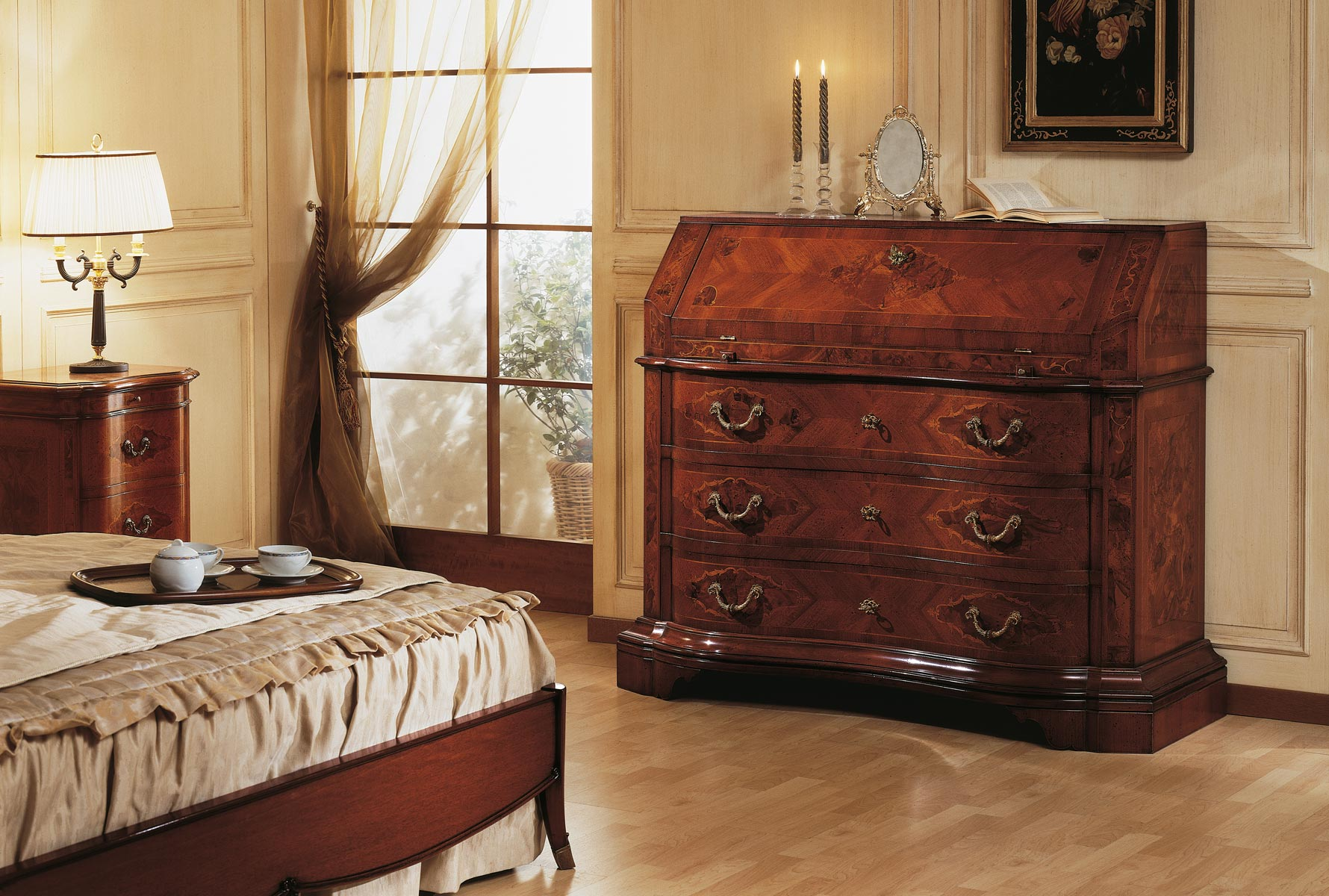 collezione mobili classici 700 lombardo trumeau in noce