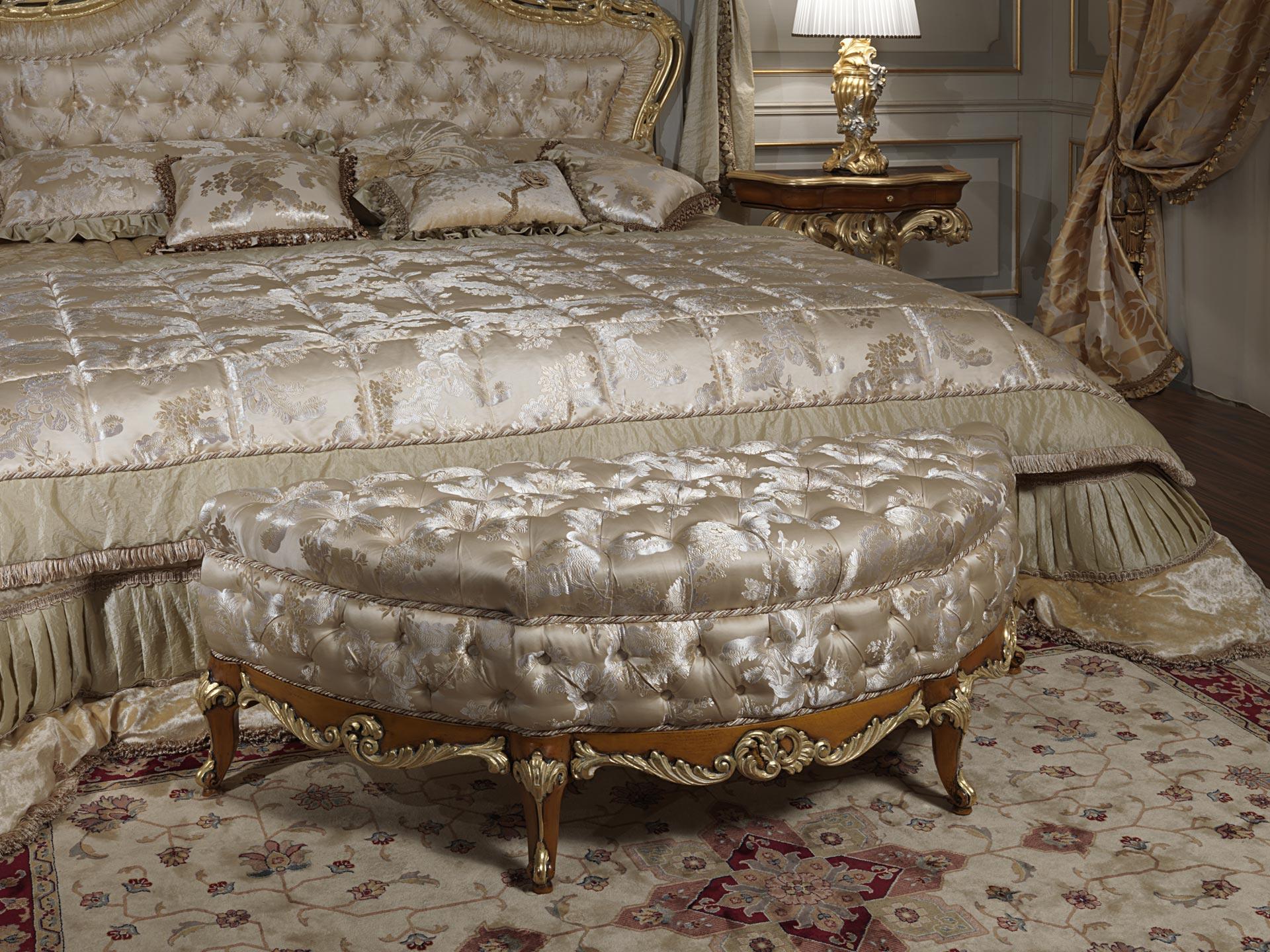 Panche Imbottite Classiche Di Lusso.Luxury Classic Bedroom Roman Baroque Style Vimercati Meda