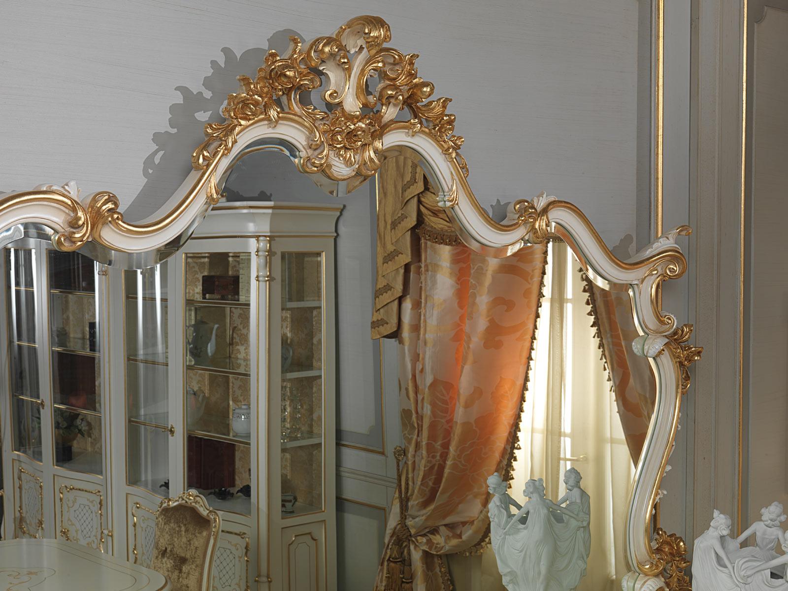 Specchiera In Stile Luigi XV Vimercati Meda #995E32 1600 1200 Sala Da Pranzo Luce Calda O Fredda