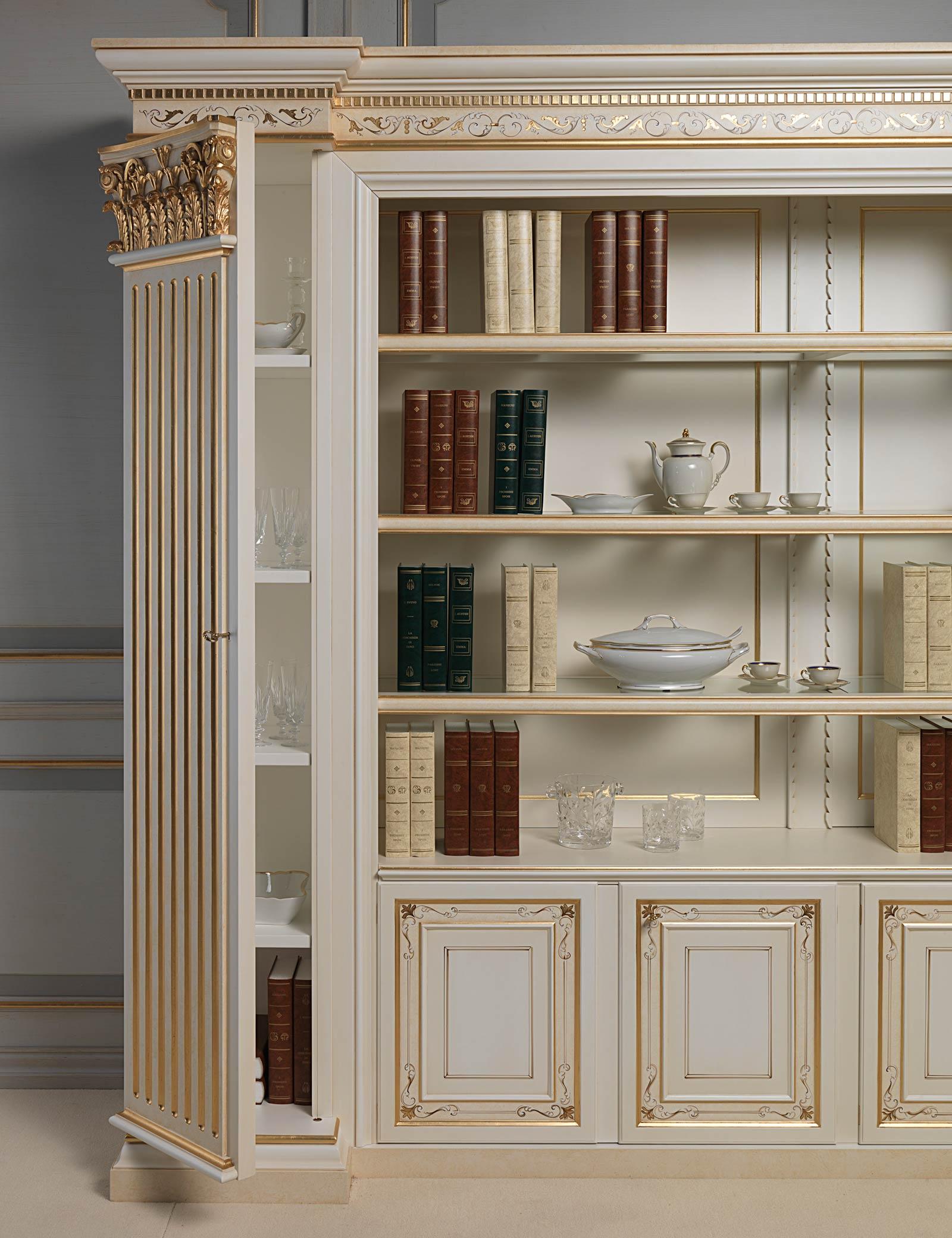 Libreria classica con lesena a scomparti  Vimercati Meda