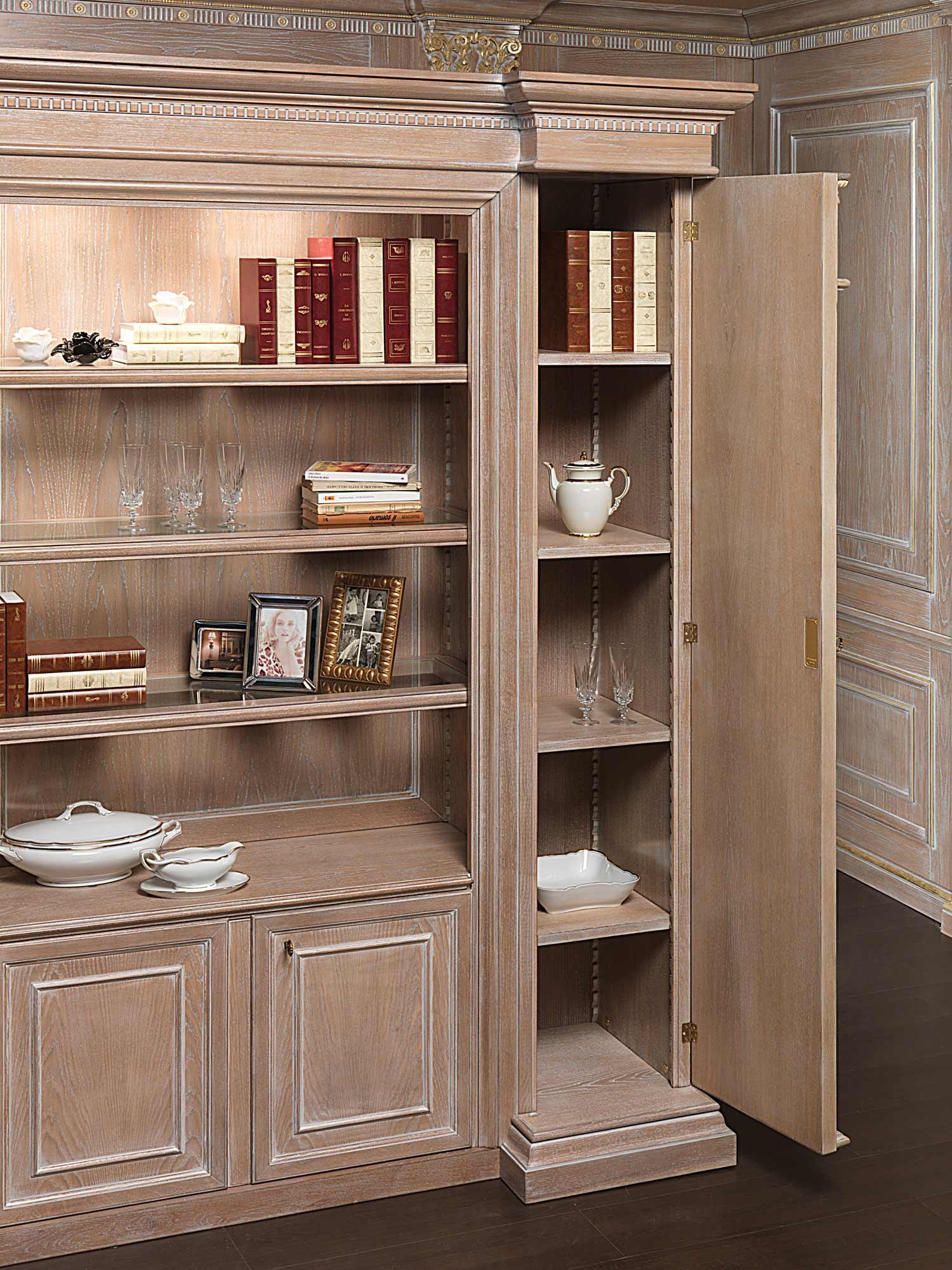 Libreria classica per parete componibile vimercati meda for Libreria angolare componibile
