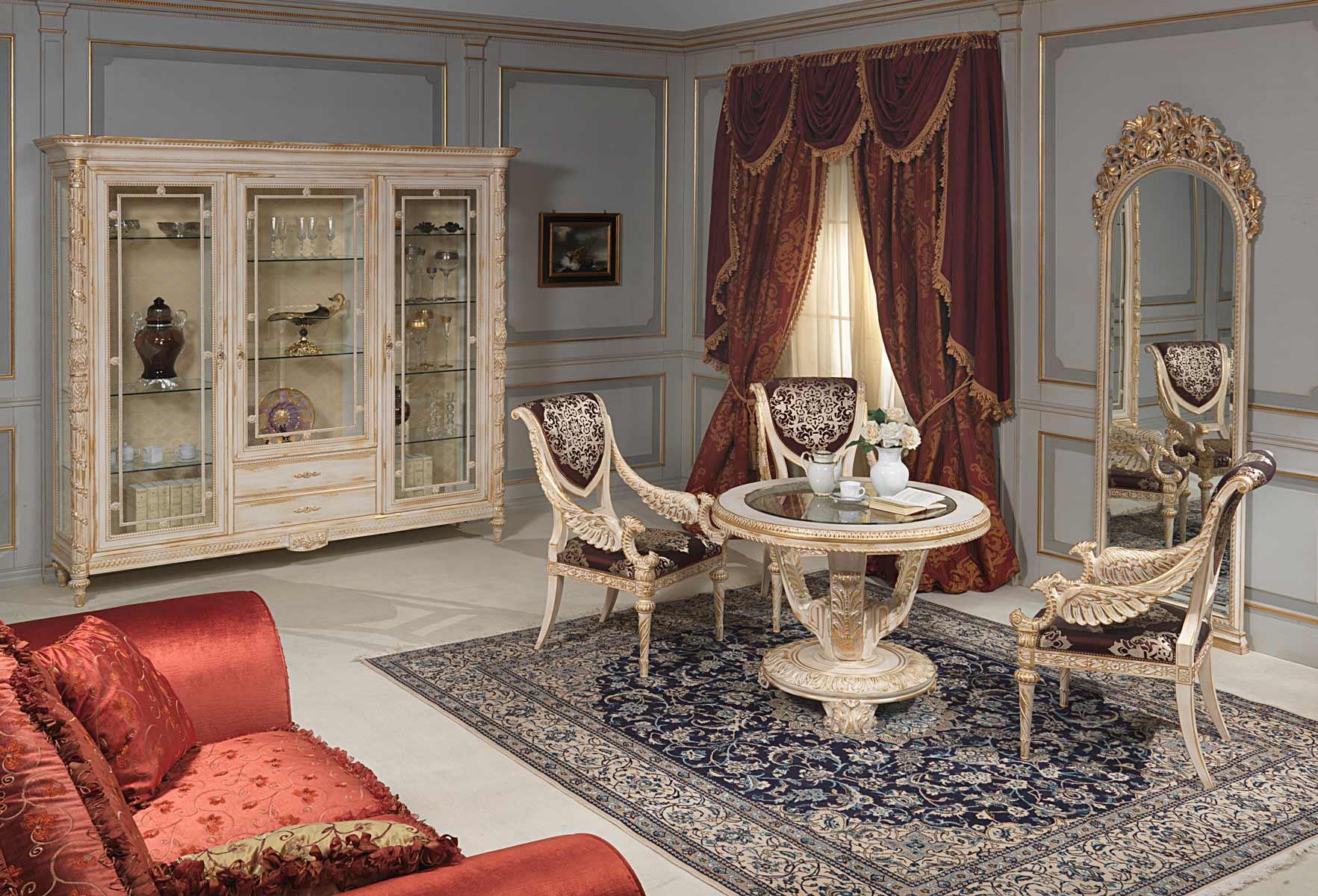 Salotto Stile Luigi XVI Vimercati Meda #9A3F31 1765 1200 Sale Da Pranzo Classiche Roma