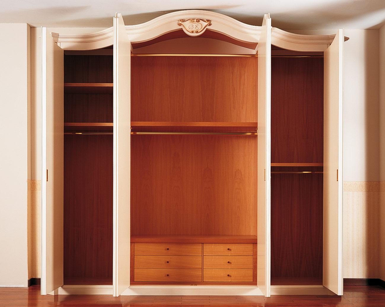 Armadio classico settecento interno in legno vimercati meda - Interno armadio ...