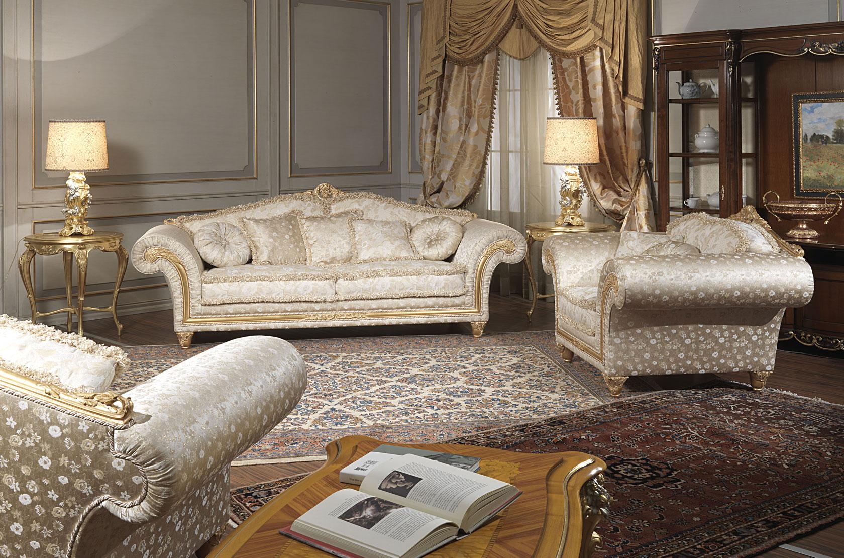Salotto classico Imperial in stoffa fiorata  Vimercati Meda
