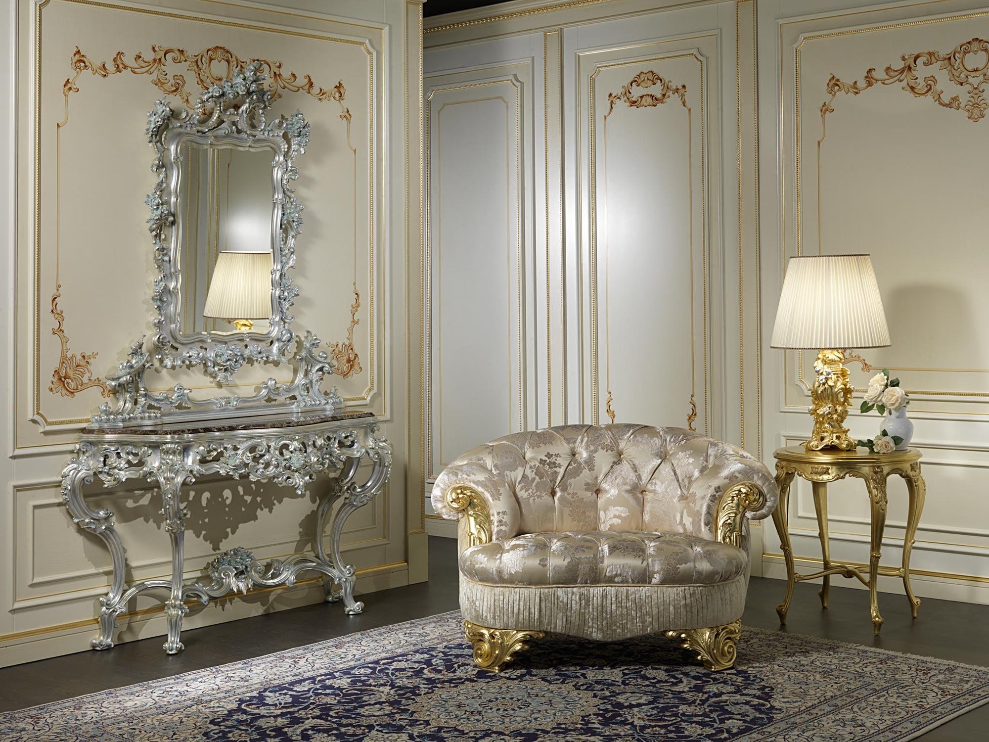 Poltrona classica salotto parigi vimercati meda for Mobili salotto classici