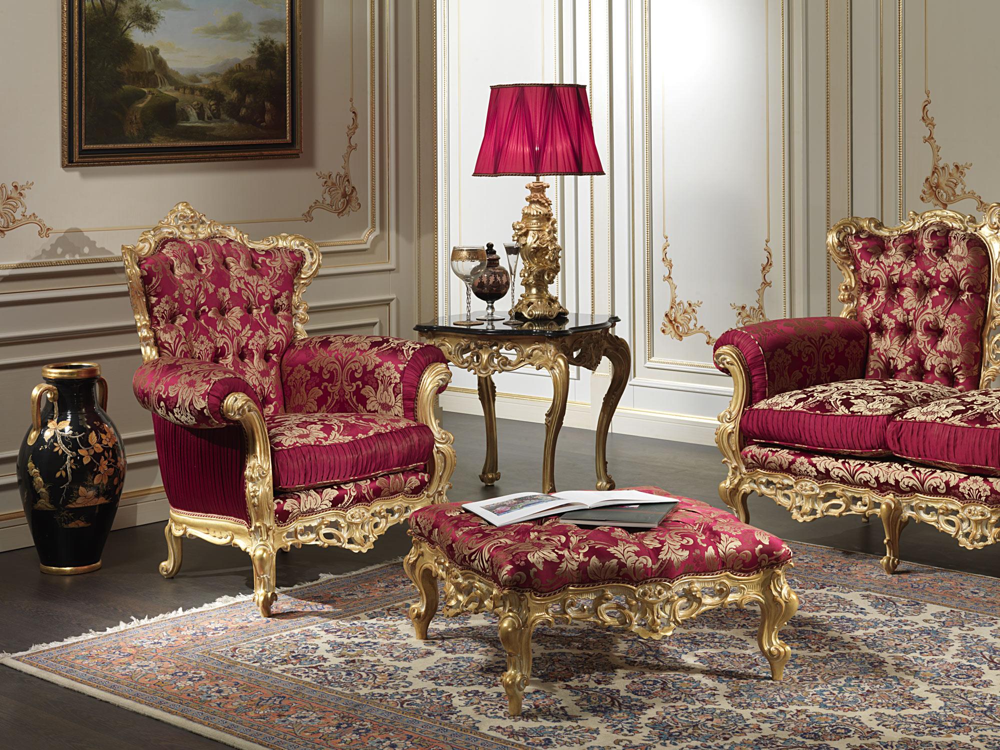 Poltrona Barocca Della Collezione Salotto Barocco Vimercati Meda #A82347 2000 1500 Sala Da Pranzo Stile Barocco Moderno