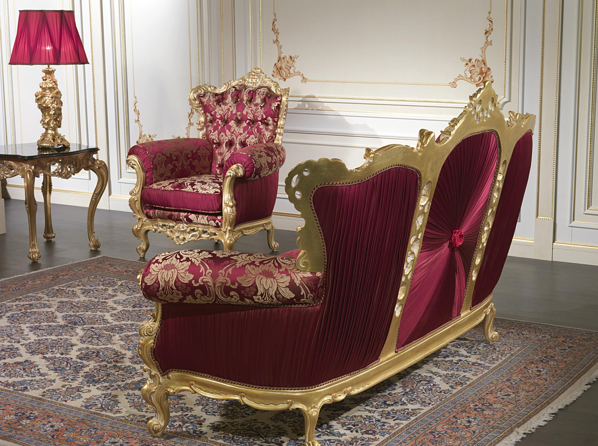 Divano barocco di lusso collezione salotto barocco - Divani in stile barocco ...