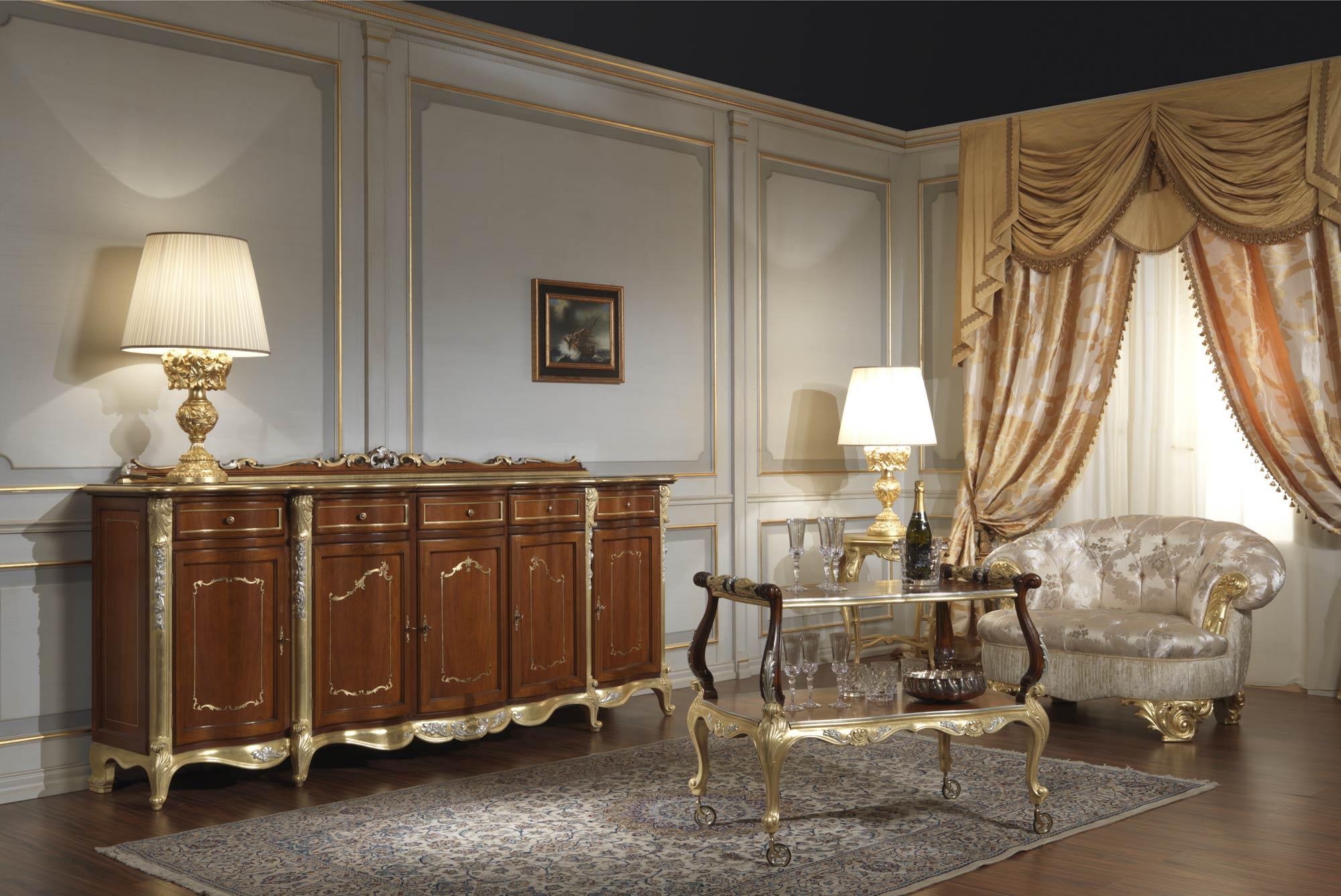 mobili sala da pranzo ikea : Mobili sala in stile classico Luigi XV ...