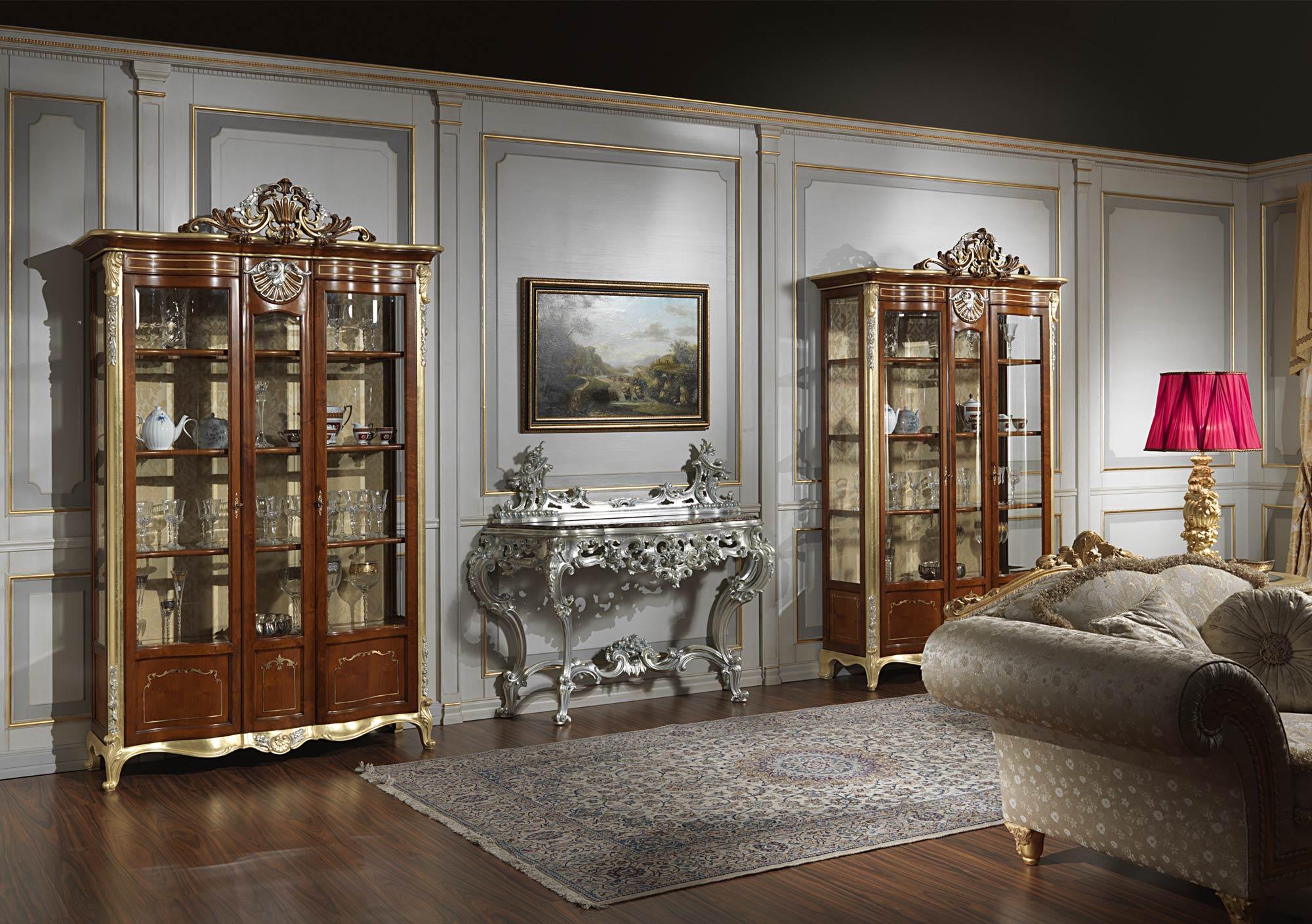 Credenza Classica Per Soggiorno : Mobile vetrina per soggiorno in stile classico vimercati meda