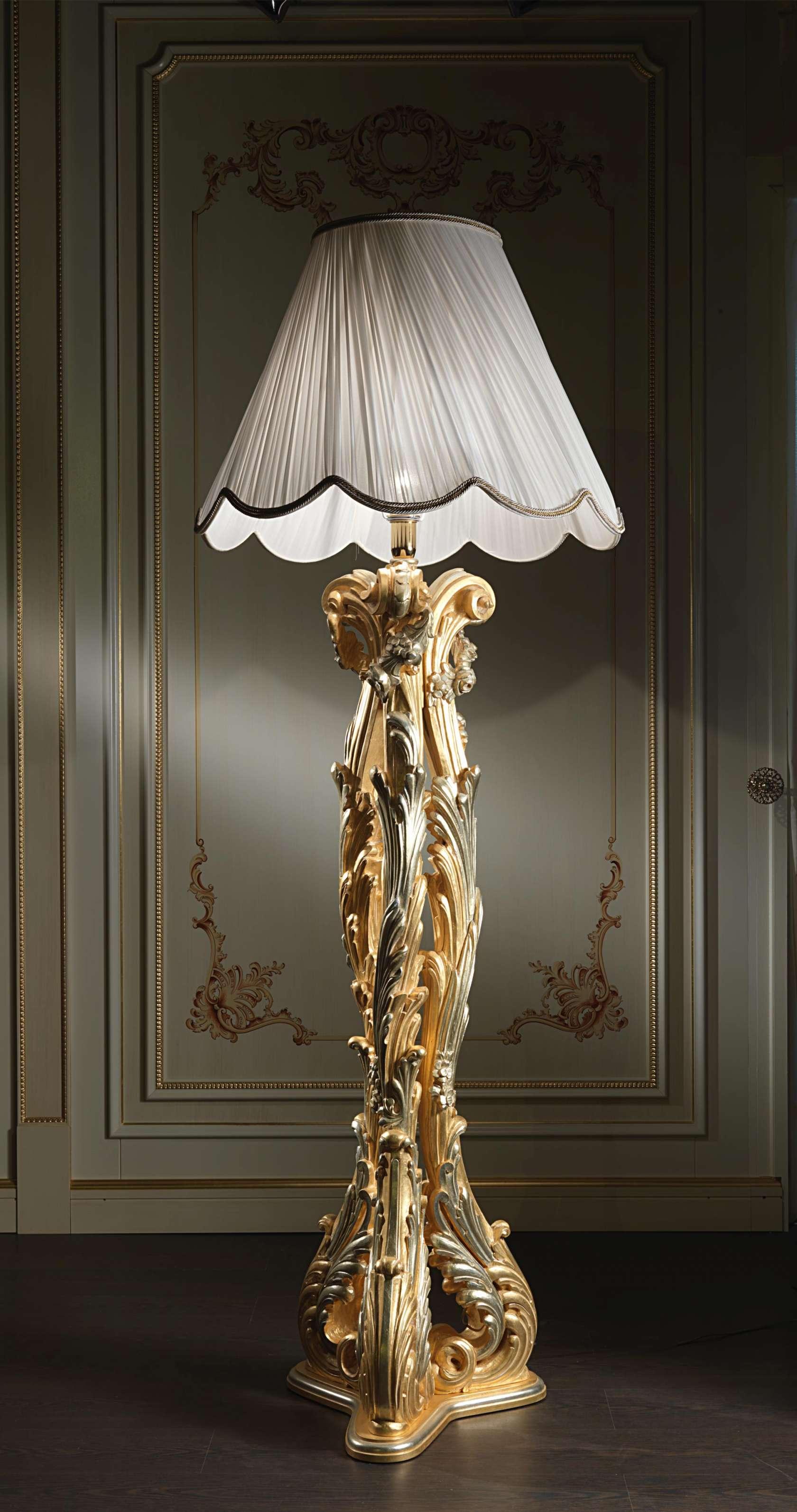 Lampada da terra di lusso stile barocco vimercati meda for Lampade da salotto