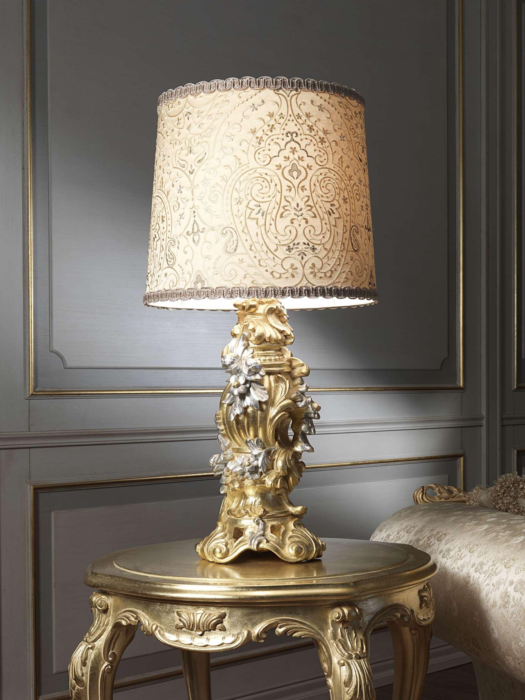Lampada classica in oro foglia vimercati meda - Lampade da tavolo classiche ...