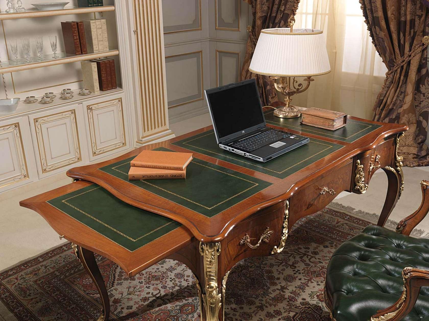Scrivania stile Luigi XV con ripiani estraibili | Vimercati Meda