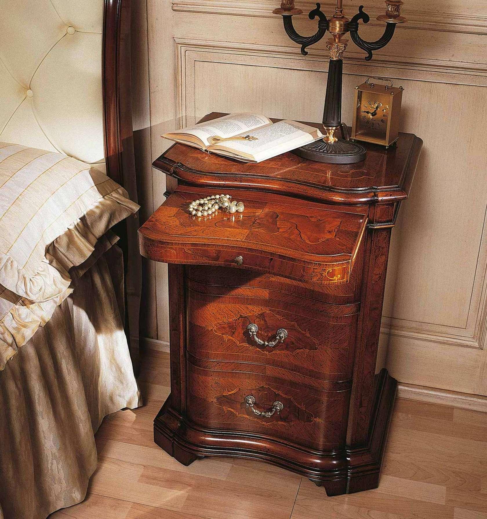 collezione mobili classici 700 lombardo comodino in noce