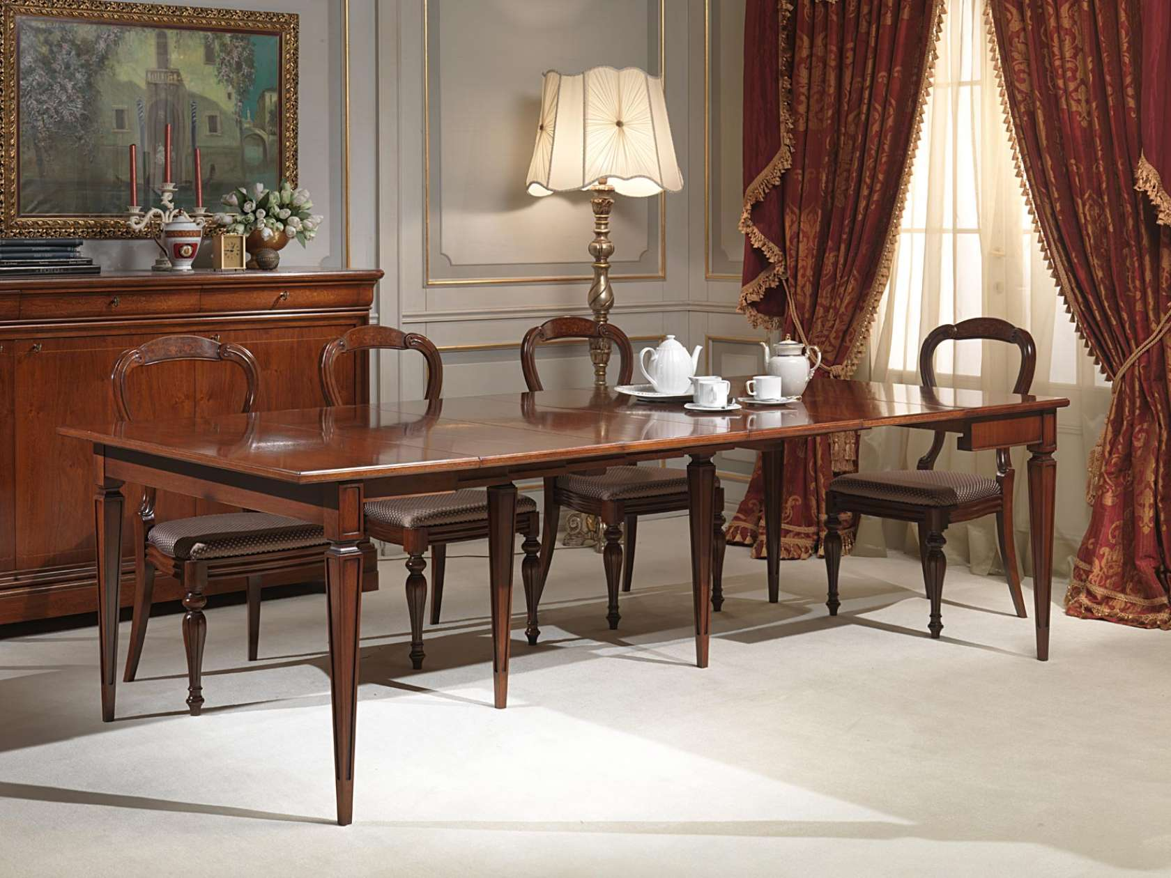 Tavolo consolle classico allungato vimercati meda for Consolle tavolo