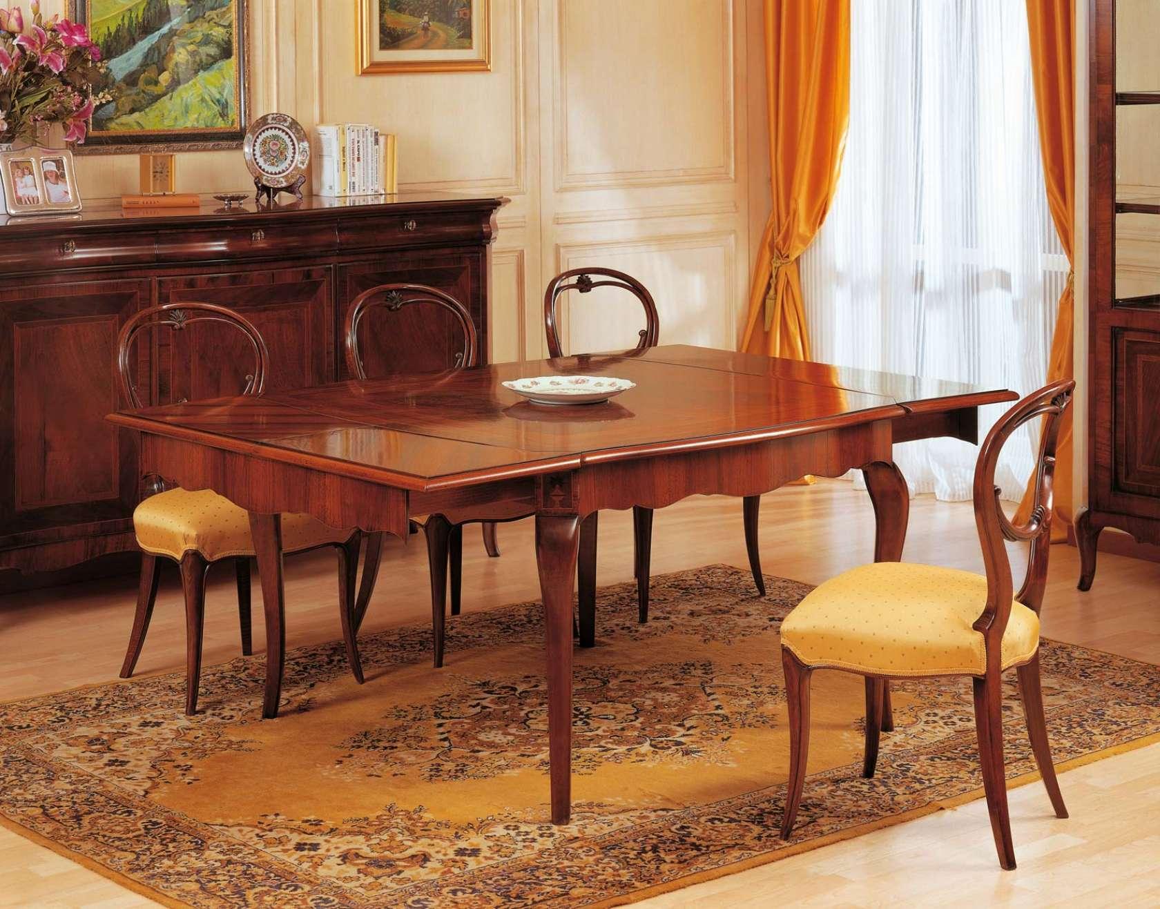 Tavolo allungabile 800 francese vimercati meda - Tavoli da pranzo classici ...