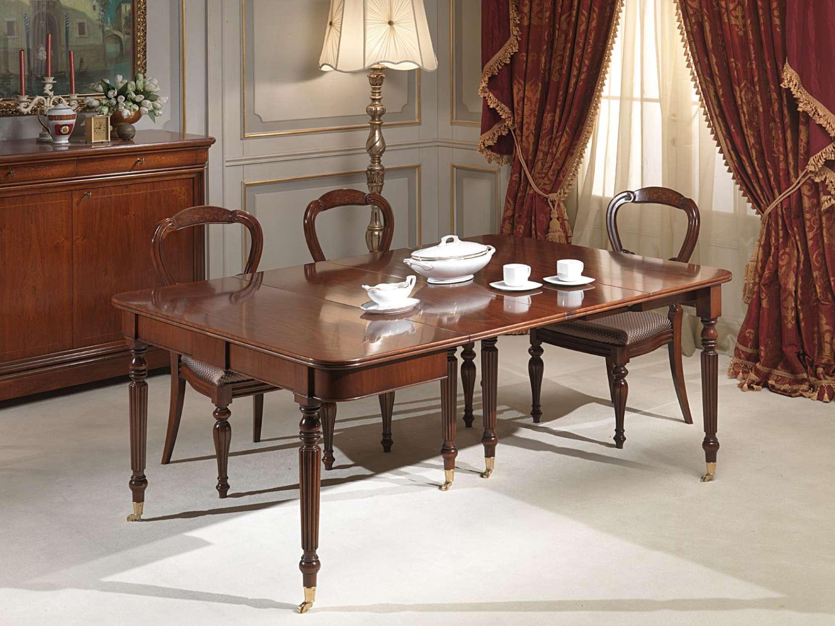 Tavolo consolle allungabile vimercati meda - Tavolo consolle allungabile stile classico ...