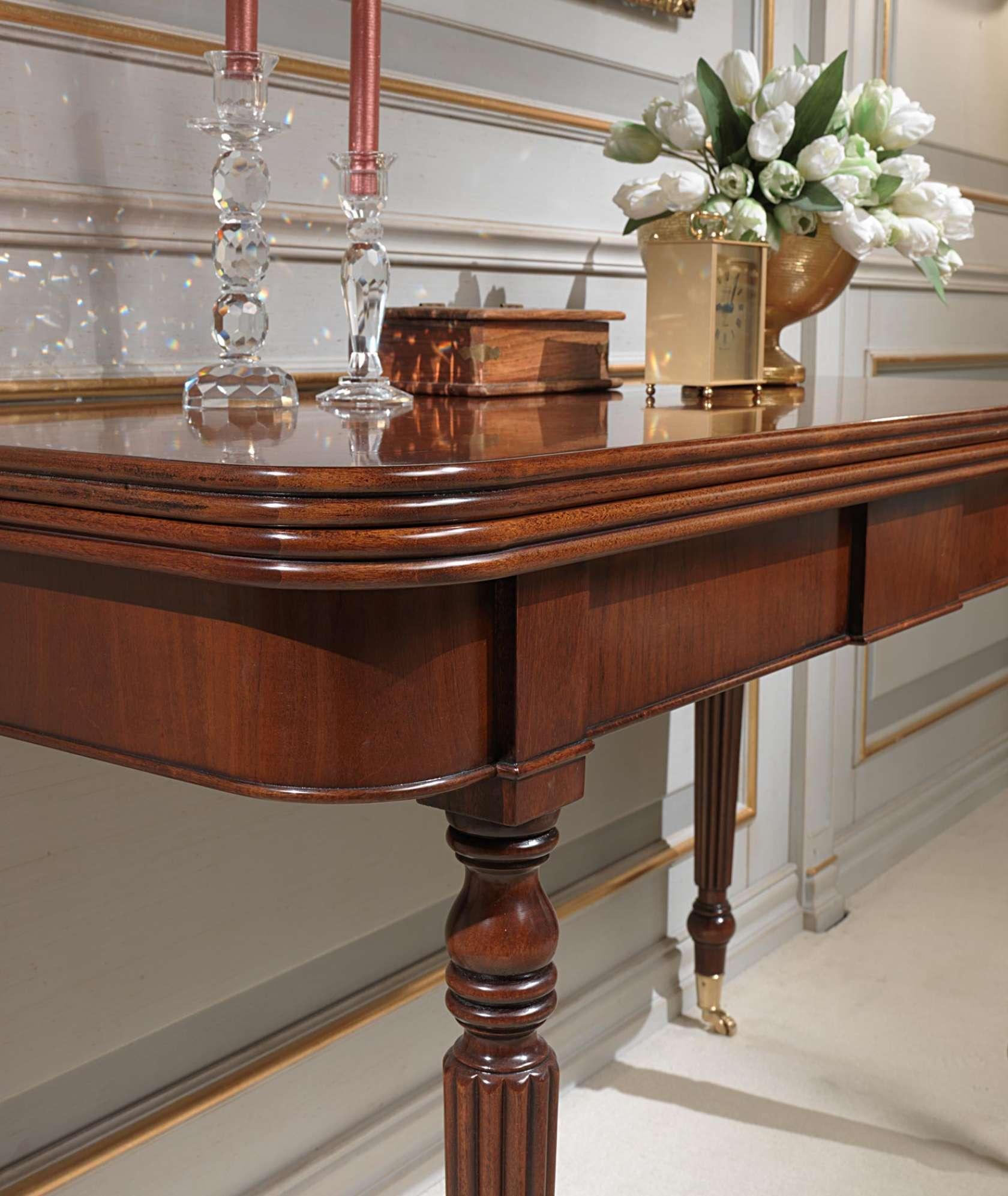 Tavolo consolle classico allungabile con ruote dettaglio vimercati meda - Tavolo allungabile classico ...