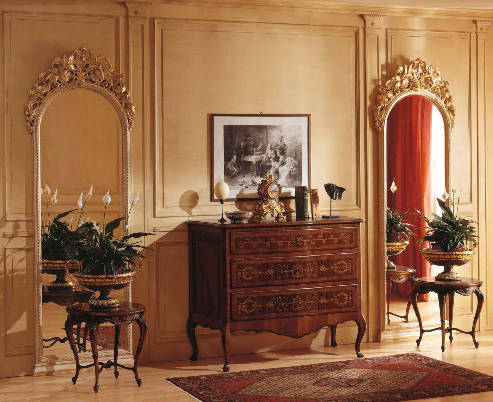 Camera da letto classica louvre com e specchi a muro vimercati meda - Specchi particolari per camera da letto ...