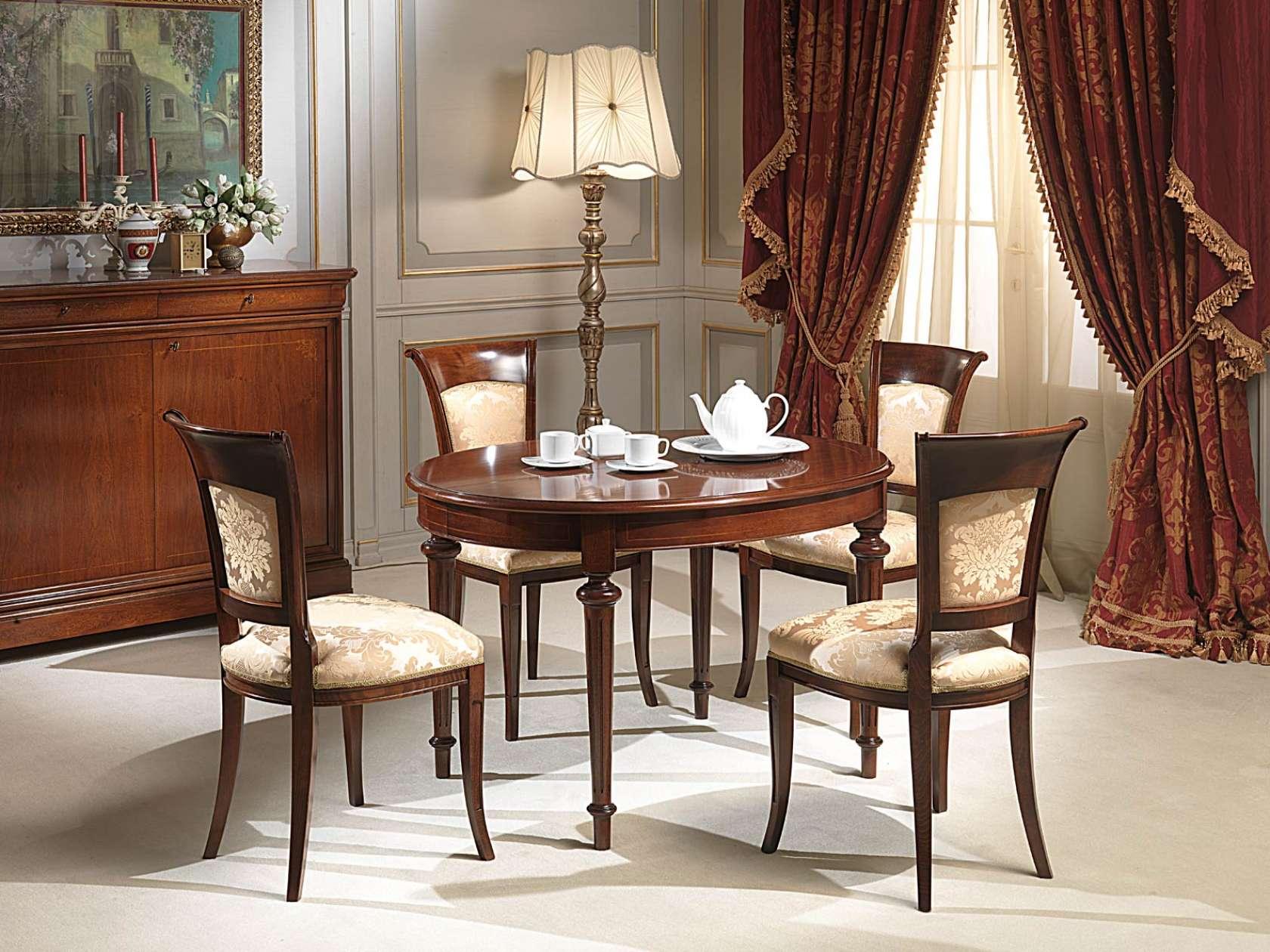 Tavoli Da Pranzo Classici : Tavolo ovale allungabile vimercati meda