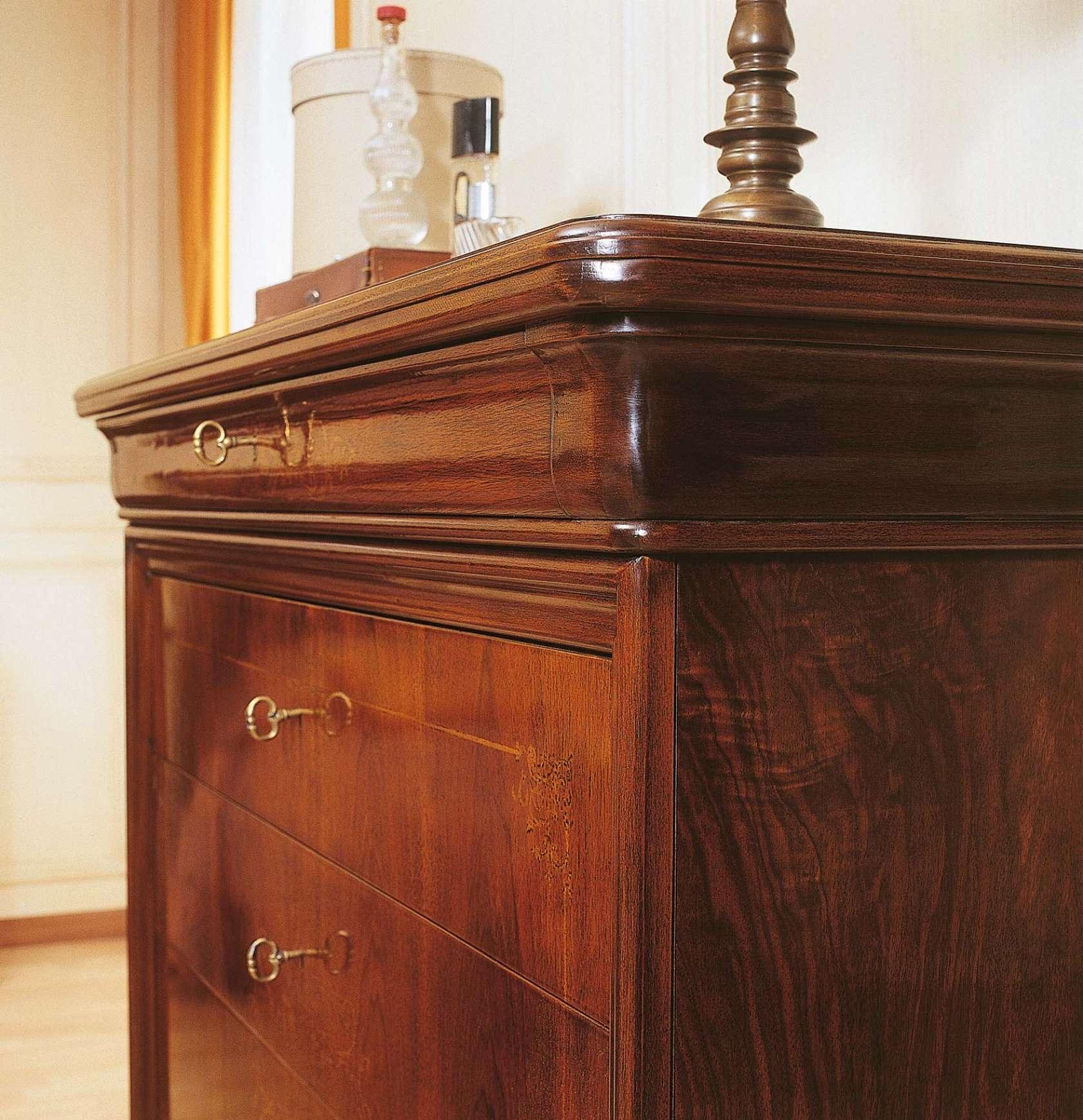 Camera da letto 800 francese com in noce intarsiato - Camera da letto in francese ...