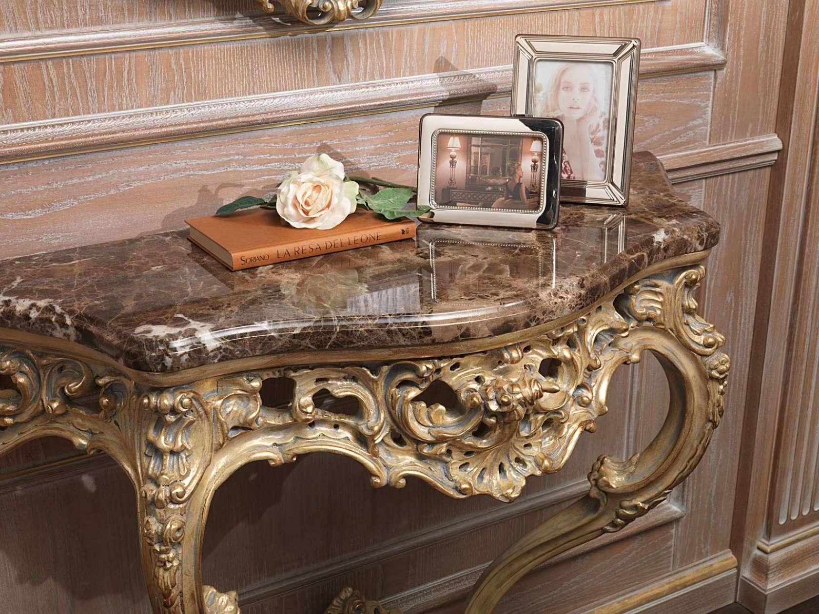 Consolle Classica Intagliata Oro Patinato Grigio Vimercati Meda #965B35 1680 1260 Sala Da Pranzo Online