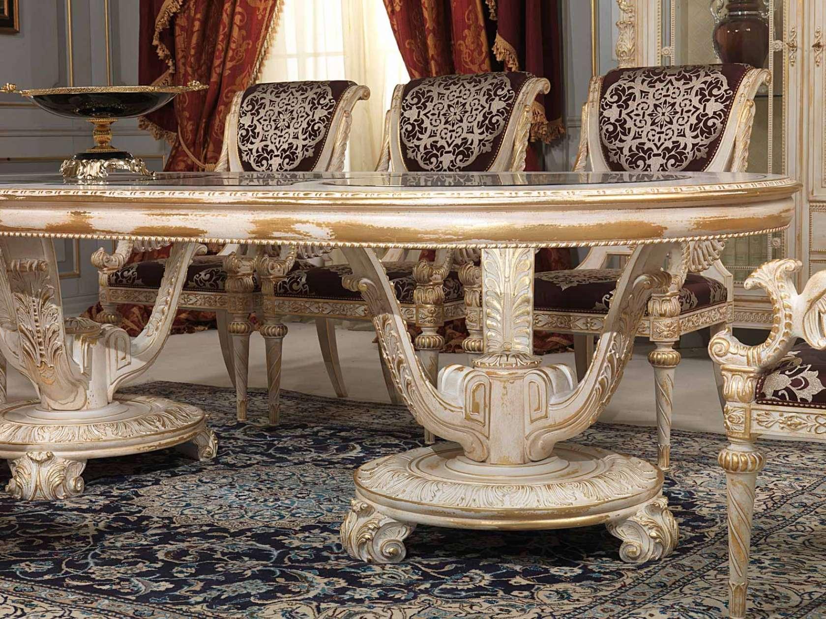 Tavolo da pranzo intagliato stile Luigi XVI | Vimercati Meda