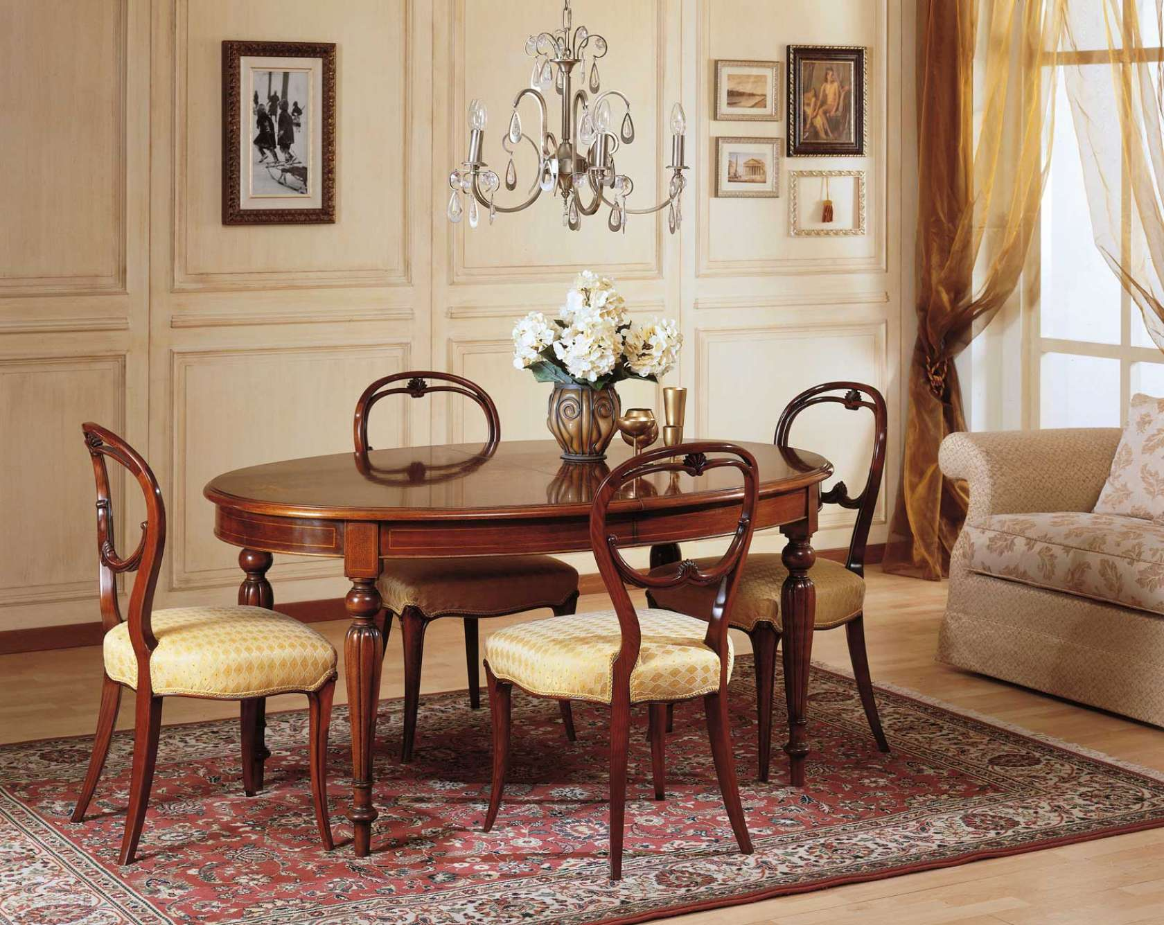 Sedie Ottocento Francese : Sala da pranzo classica 800 francese vimercati meda