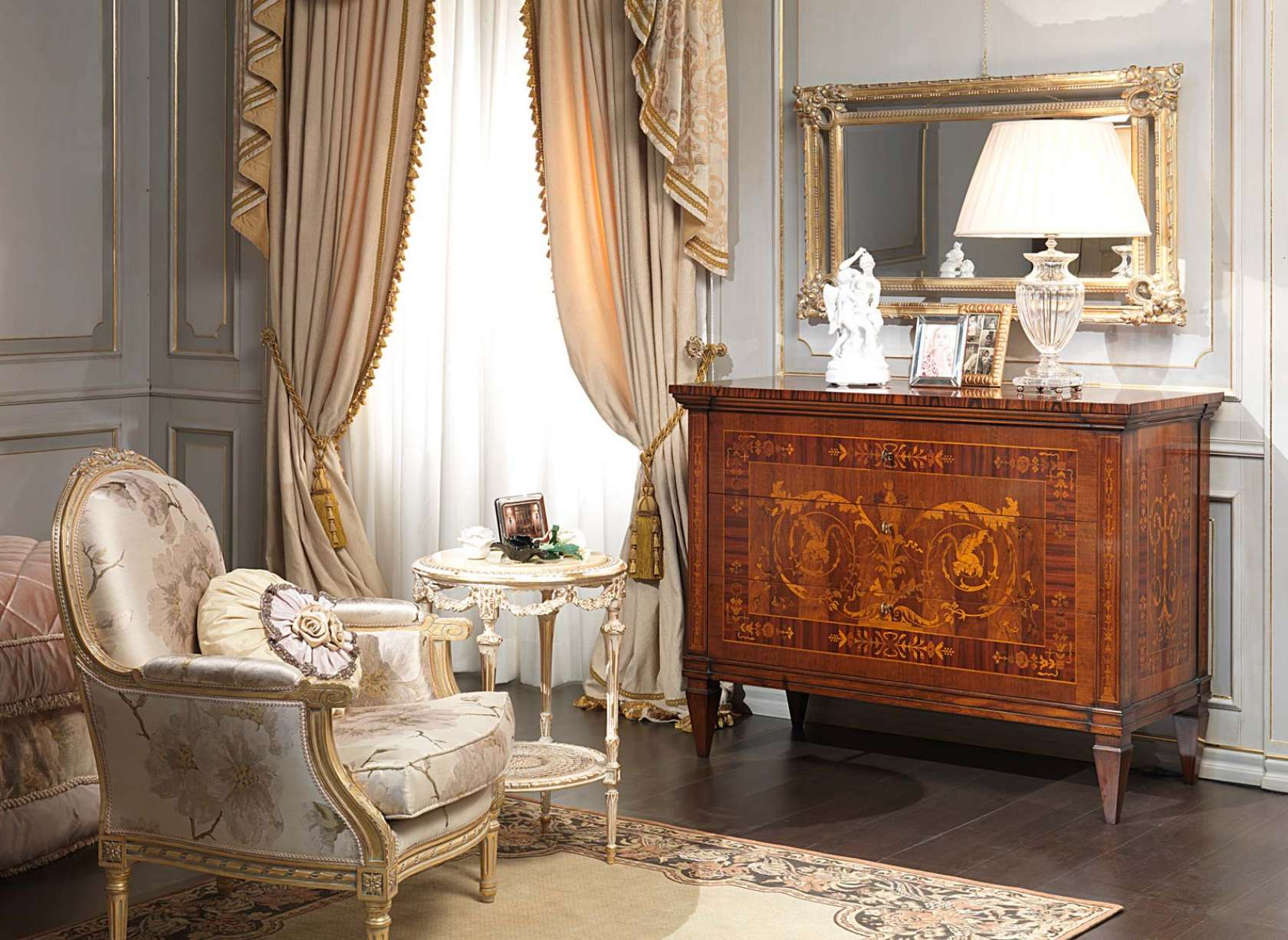 camera da letto classica i maggiolini, comò, specchiera, poltrona ... - Como Per Camera Da Letto