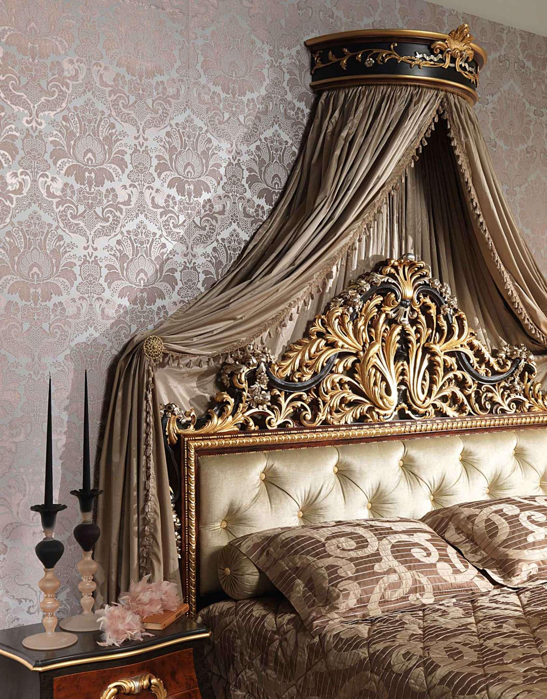 Camera da letto classica Emperador Black, letto con testata ...