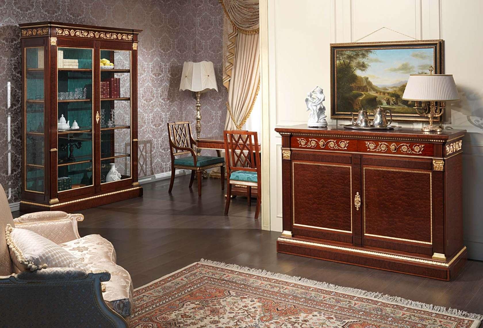 Salotto ermitage stile impero vimercati meda - Disposizione salotto sala pranzo ...