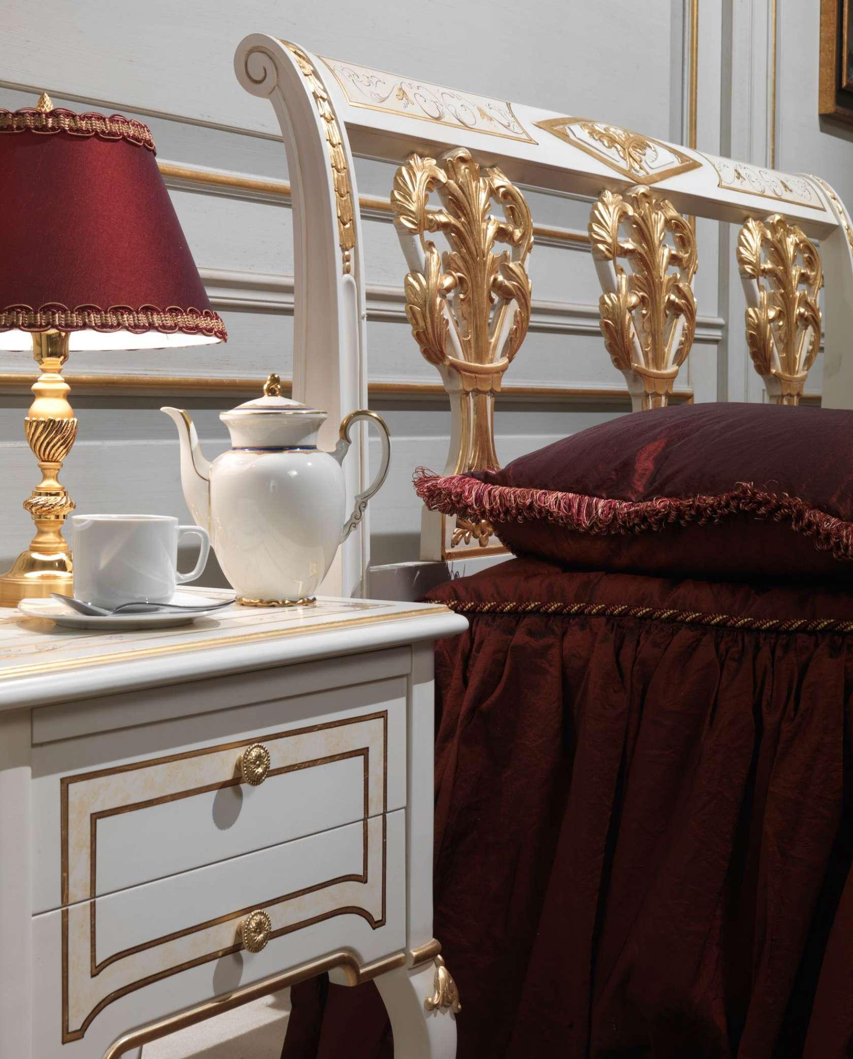 Camera da letto classica Rubens in stile 700 francese, letto e ...
