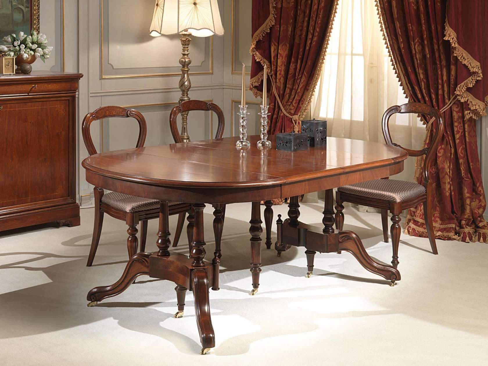 Tavoli Da Pranzo Classici : Tavolo classico allungabile vimercati meda