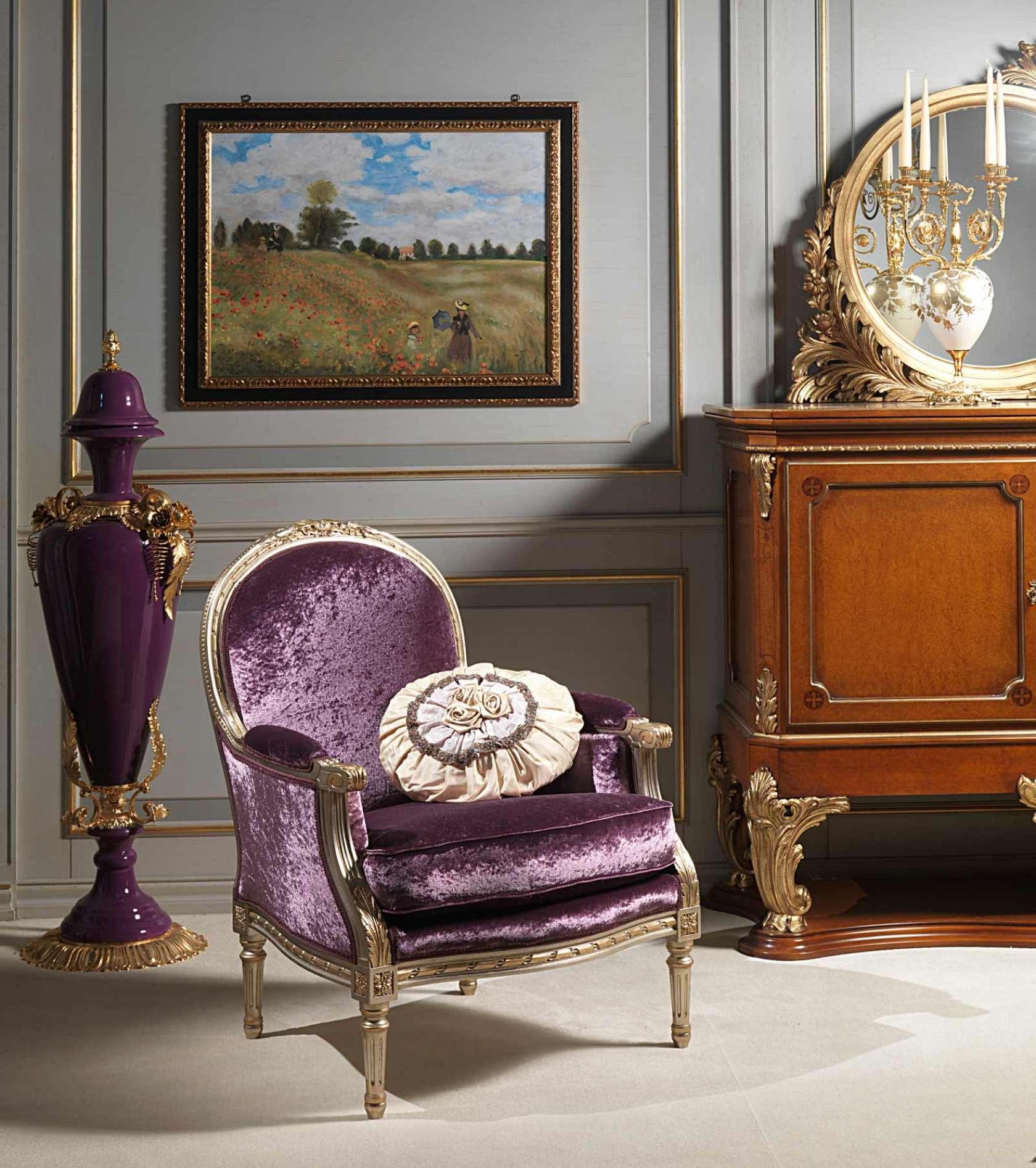 Salotto stile Luigi XVI, poltrona Rialto | Vimercati Meda