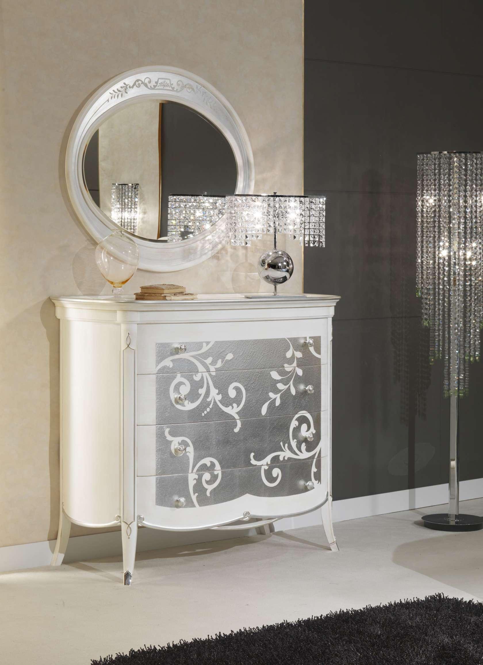 Com e specchio in stile dec made in italy vimercati meda - Specchio camera da letto ...