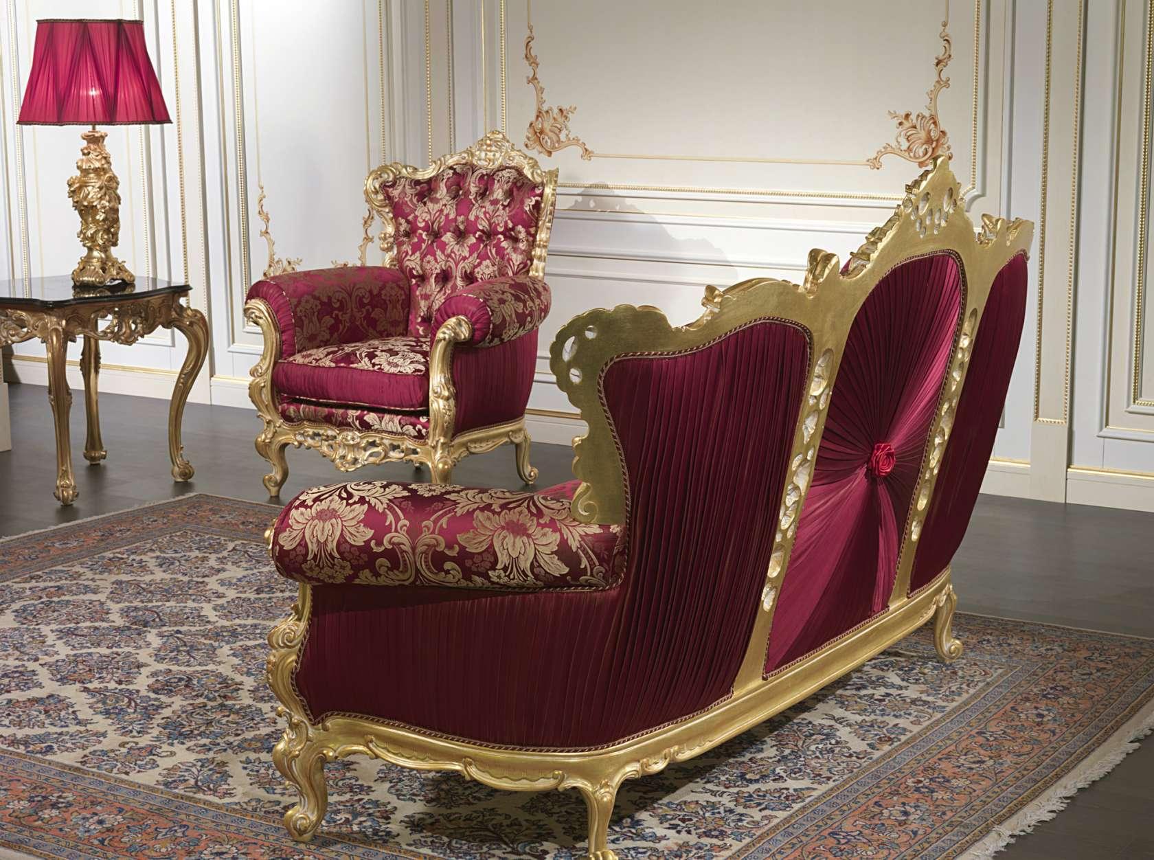 divano barocco di lusso collezione salotto barocco