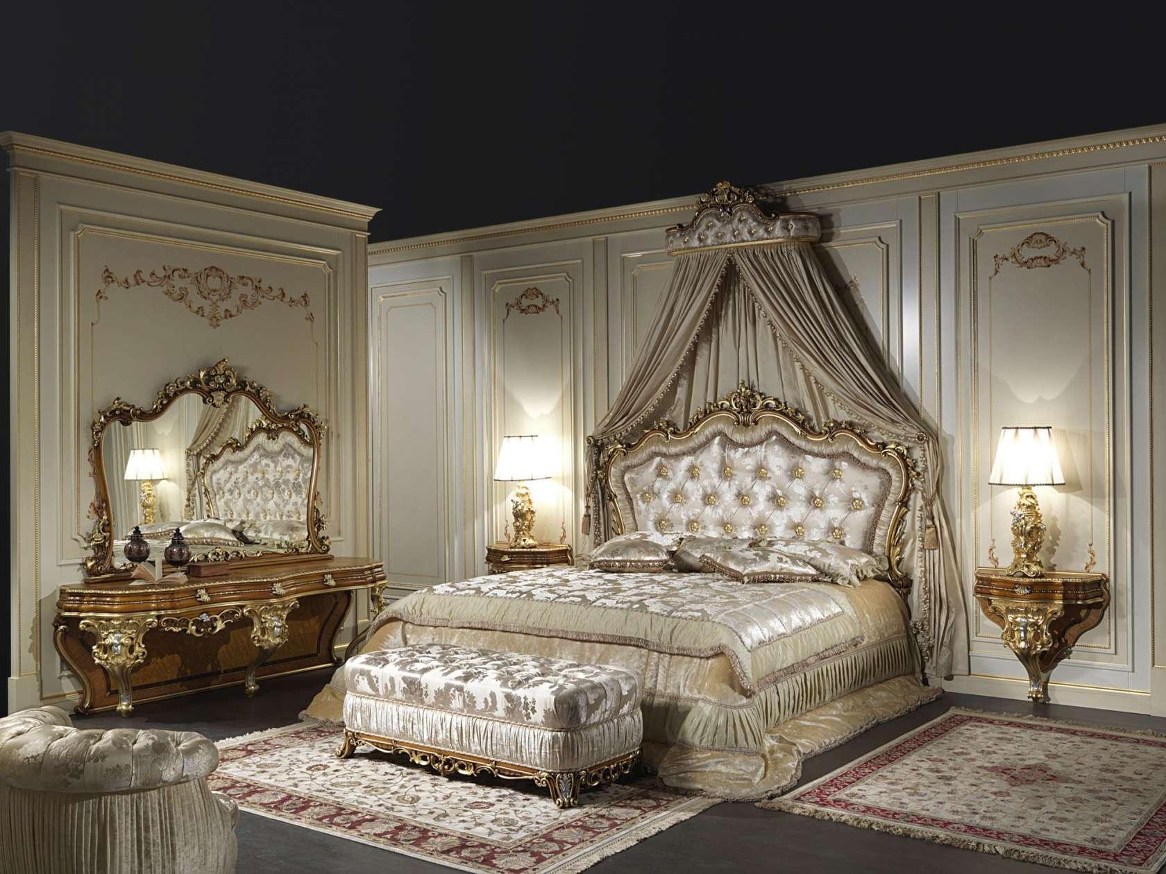 Letto matrimoniale classico in stile barocco art. 2013 | Vimercati Meda
