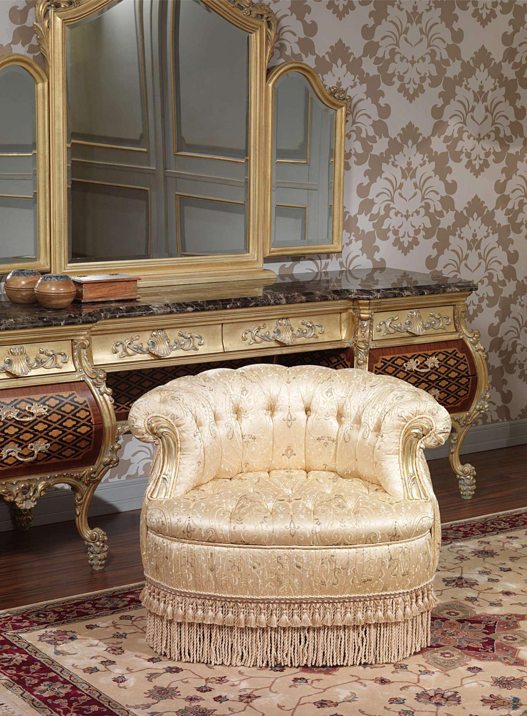 Poltrona per camera di lusso art 2011 vimercati meda for Poltrona classica camera da letto